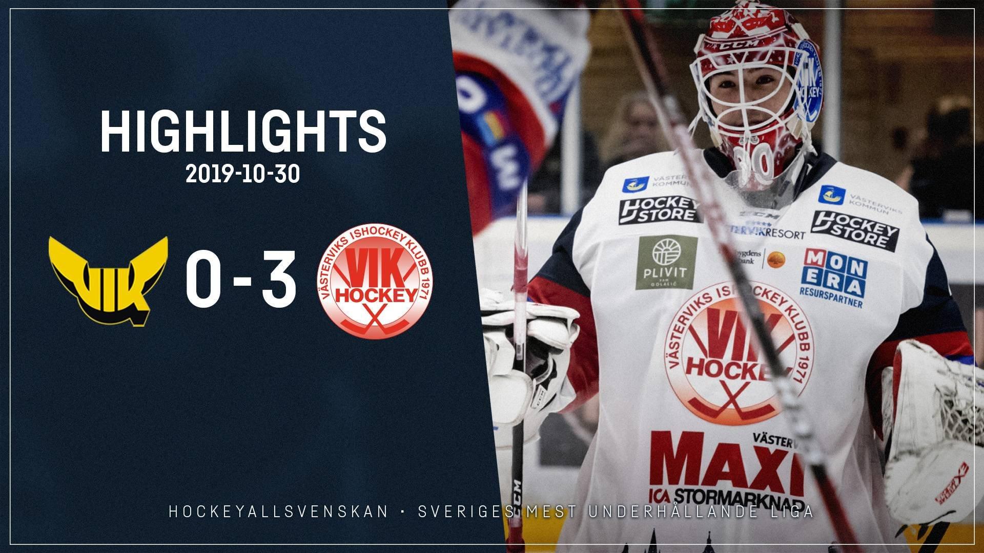 2019-10-30 Västerås - Västervik 0-3