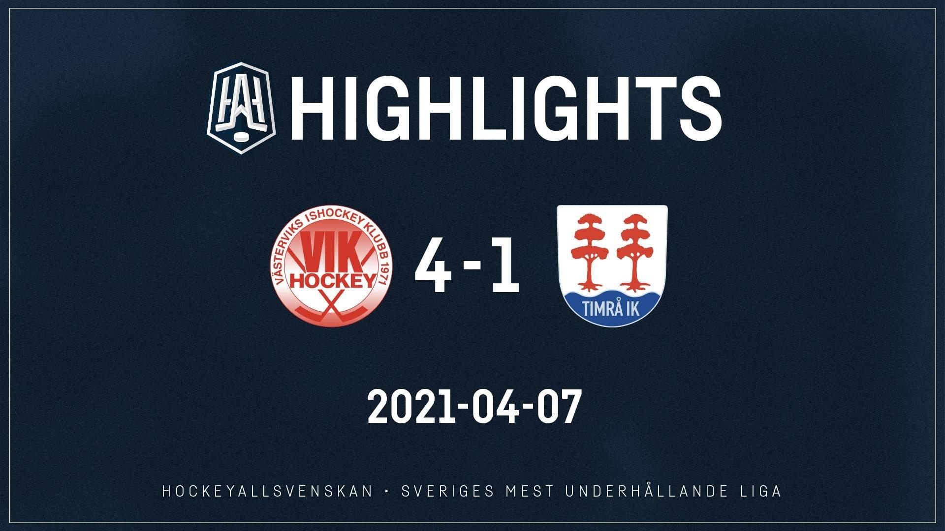 2021-04-07 Västervik - Timrå 4-1