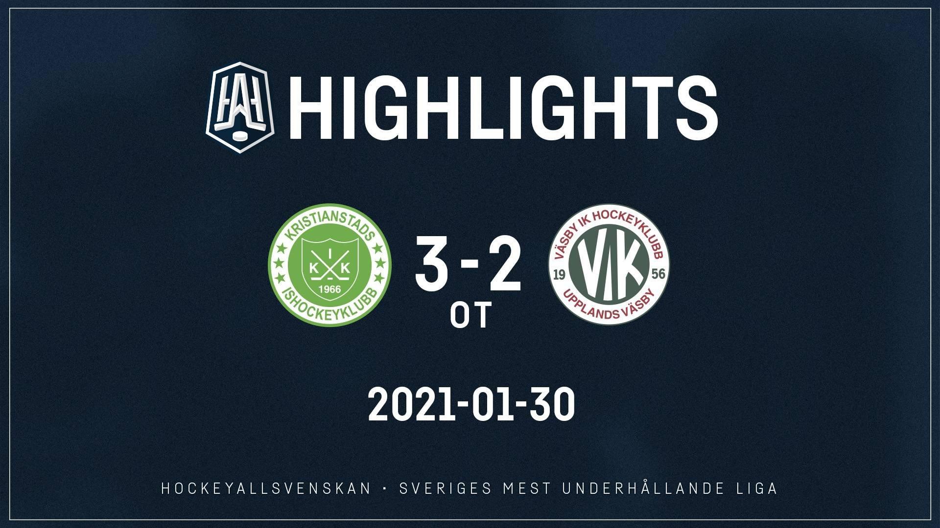 2021-01-30 Kristianstad - Väsby 3-2 (OT)