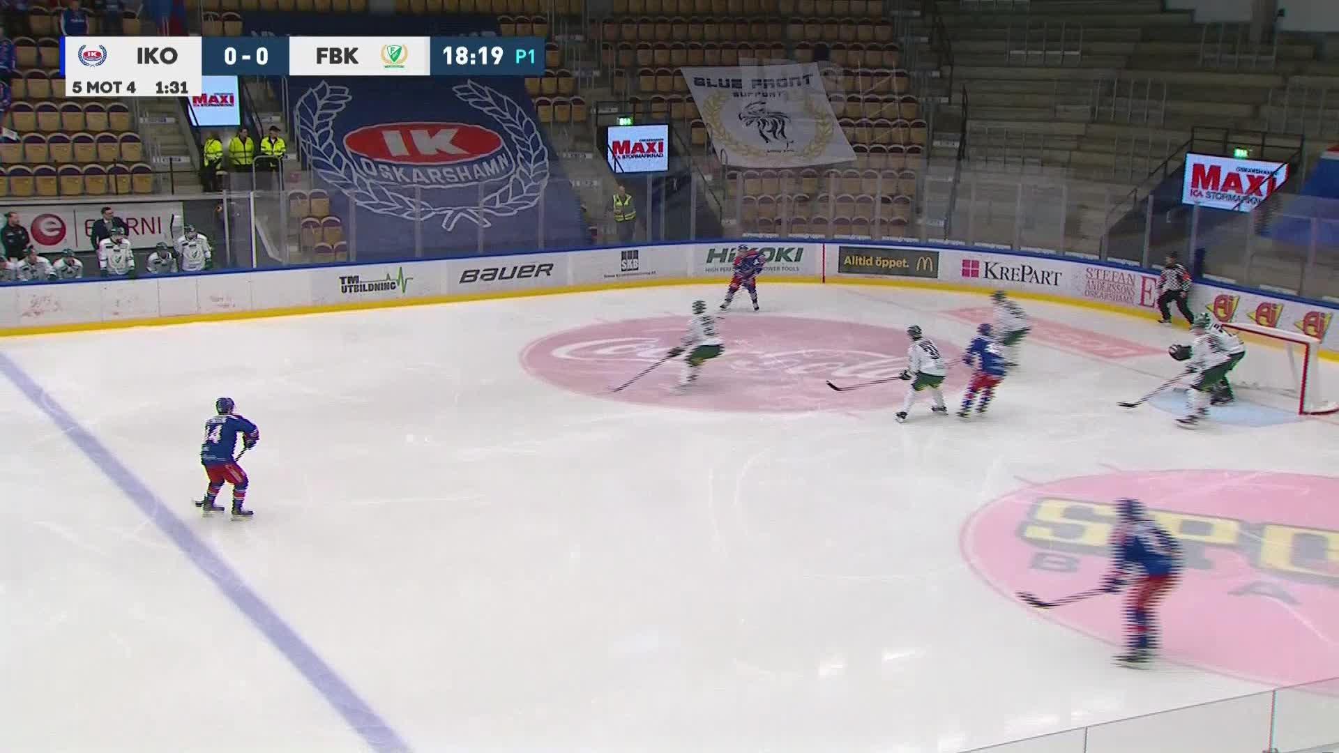 IK Oskarshamn - Färjestad BK 1-0