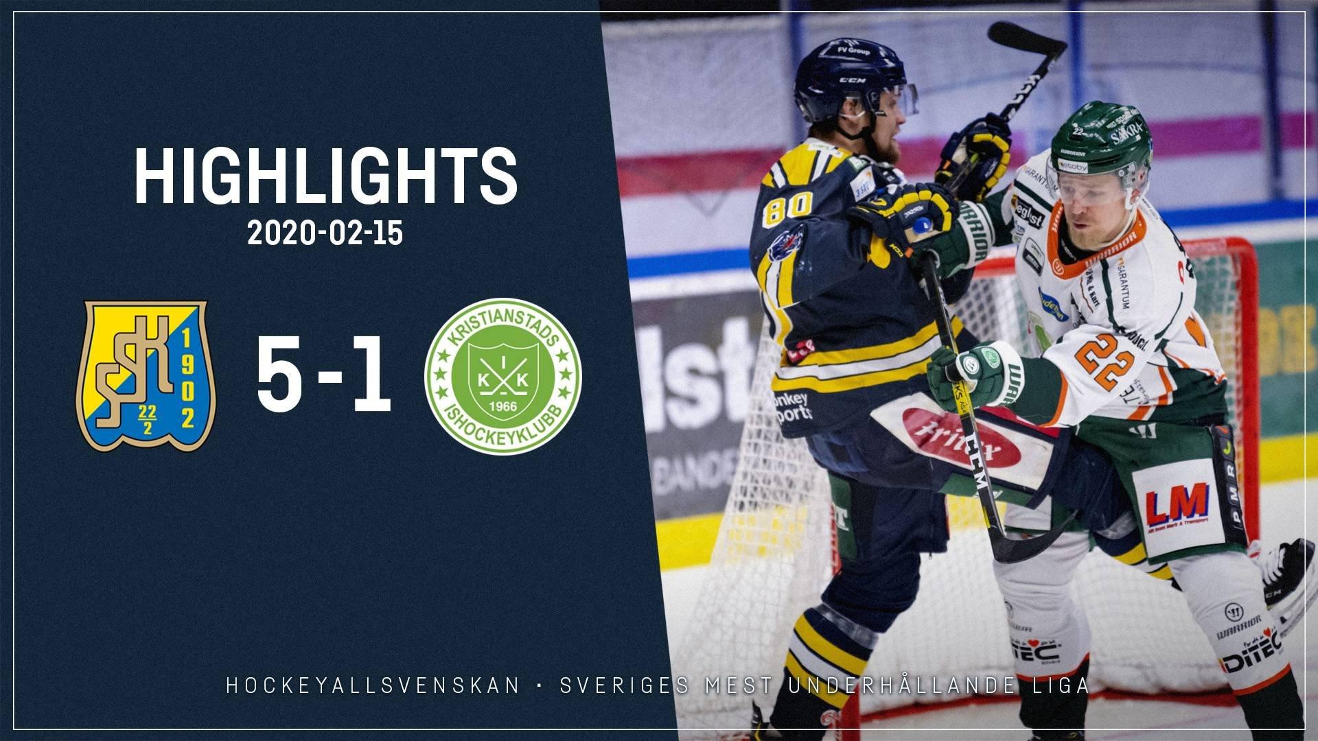 2020-02-15 Södertälje - Kristianstad 5-1