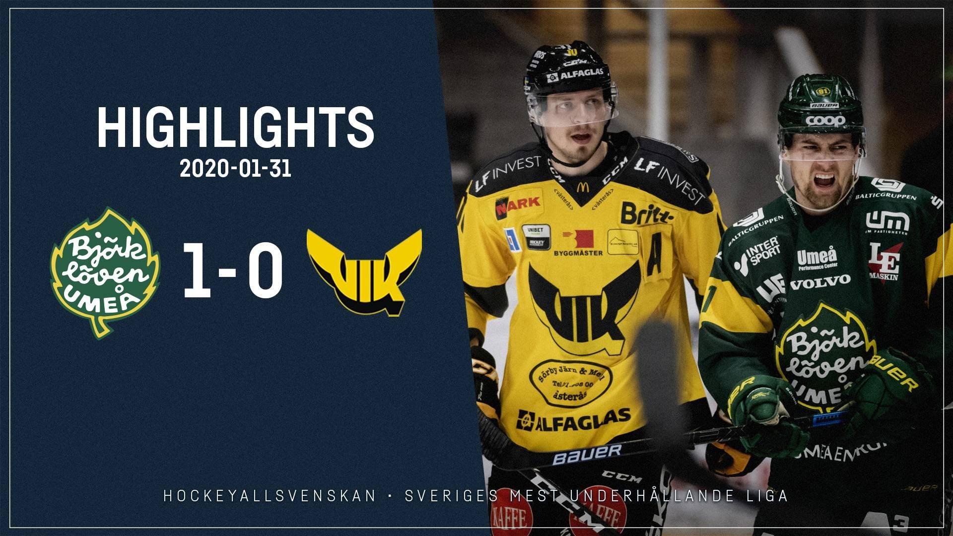 2020-01-31 Björklöven - Västerås 1-0