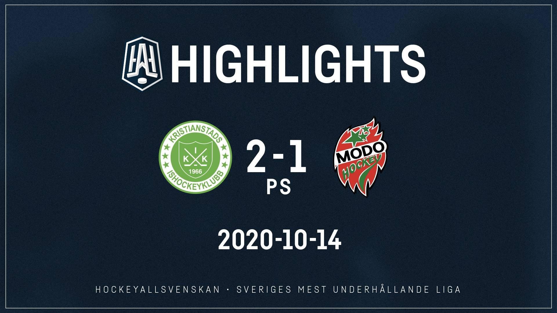 2020-10-14 Kristianstad - MODO 2-1 (PS)