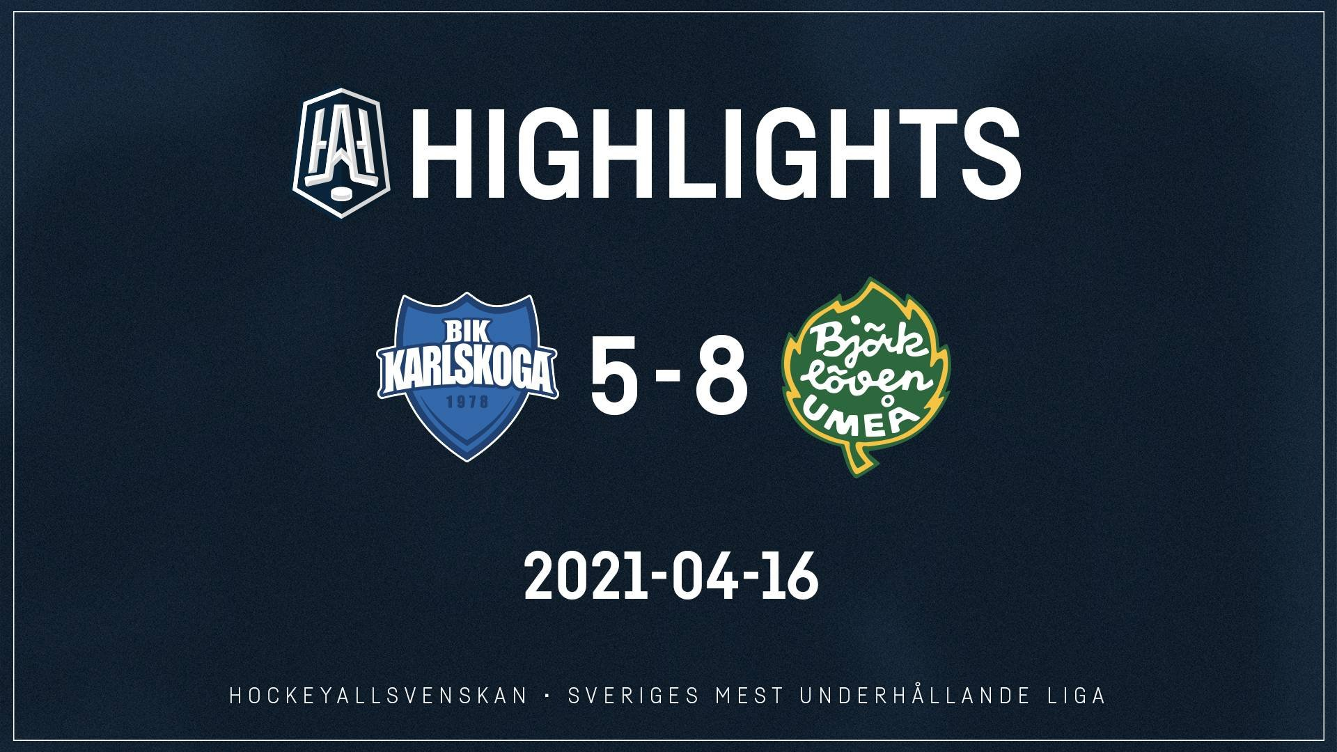 2021-04-16 Karlskoga - Björklöven 5-8