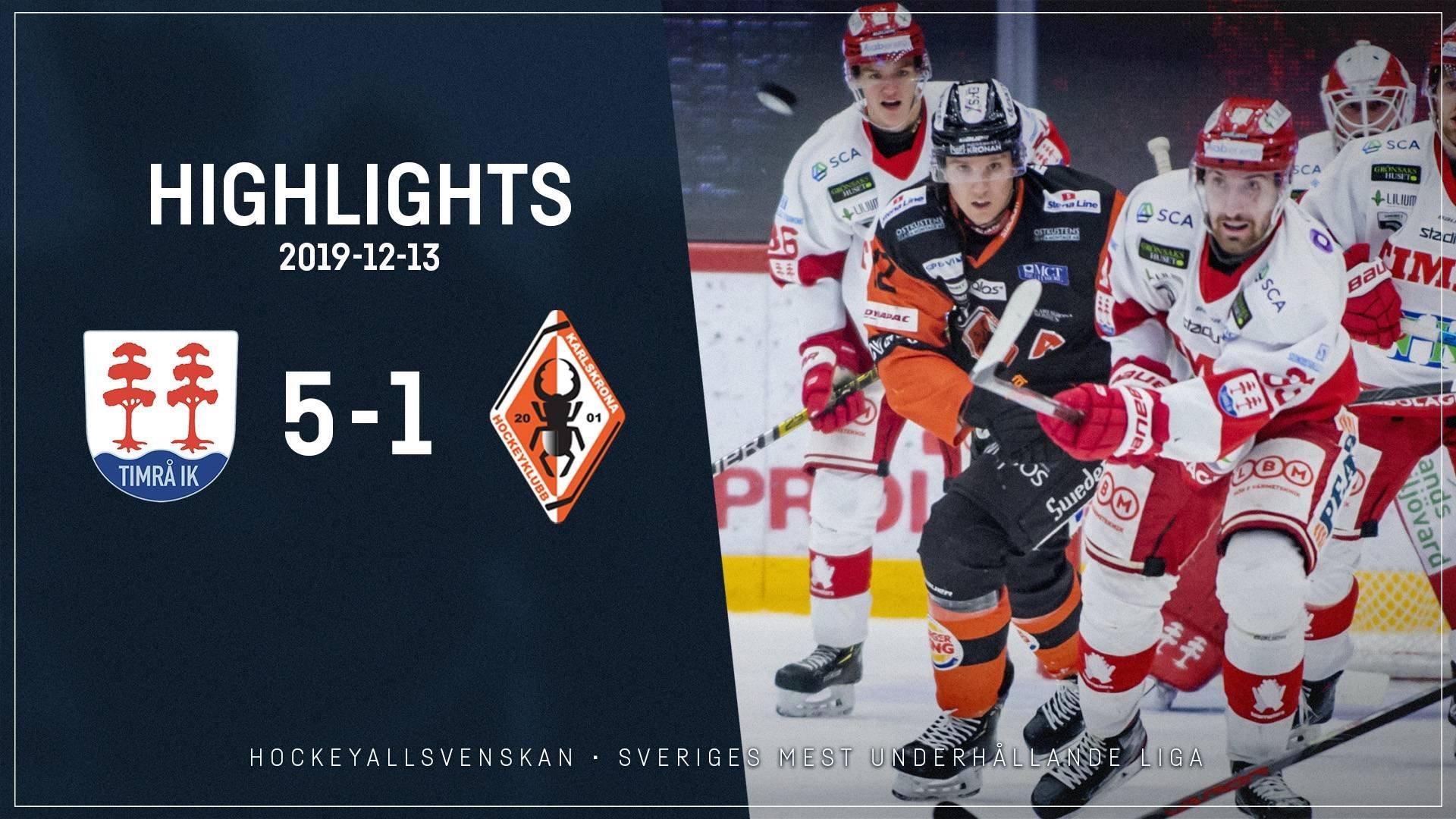 2019-12-13 Timrå - Karlskrona 5-1