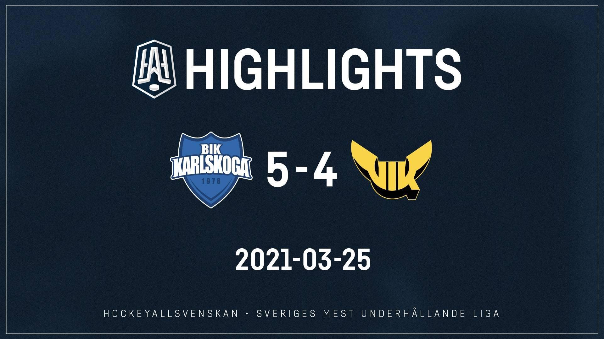 2021-03-25 Karlskoga - Västerås 5-4