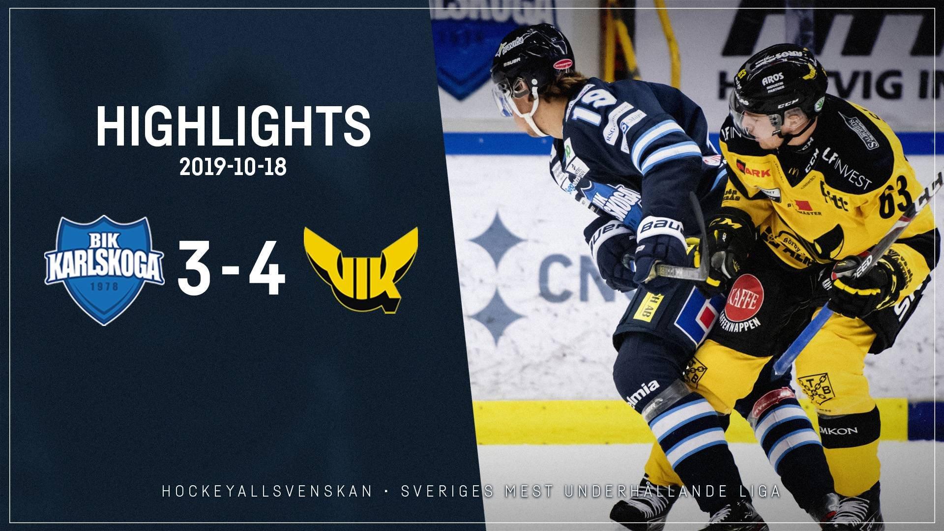 2019-10-18 Karlskoga - Västerås 3-4