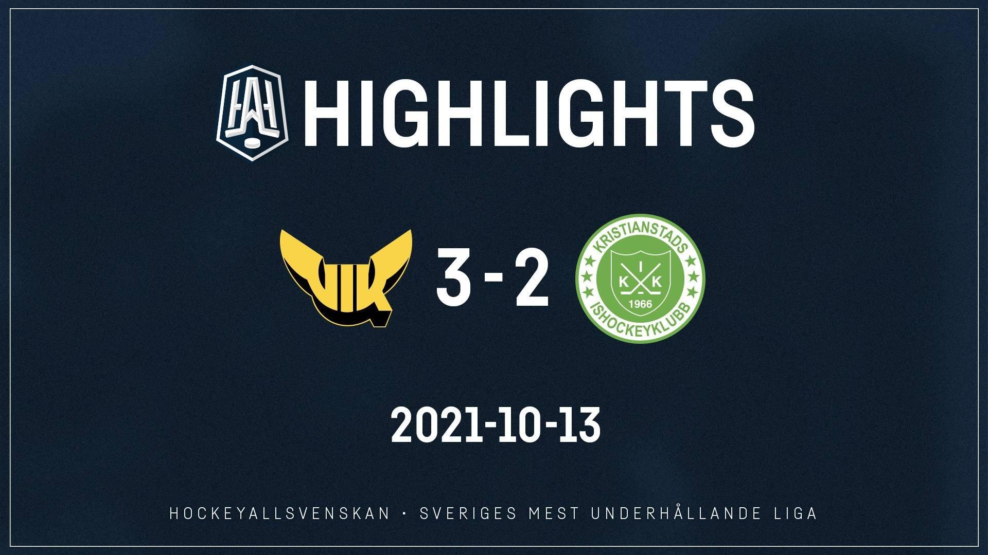2021-10-13 Västerås - Kristianstad 3-2