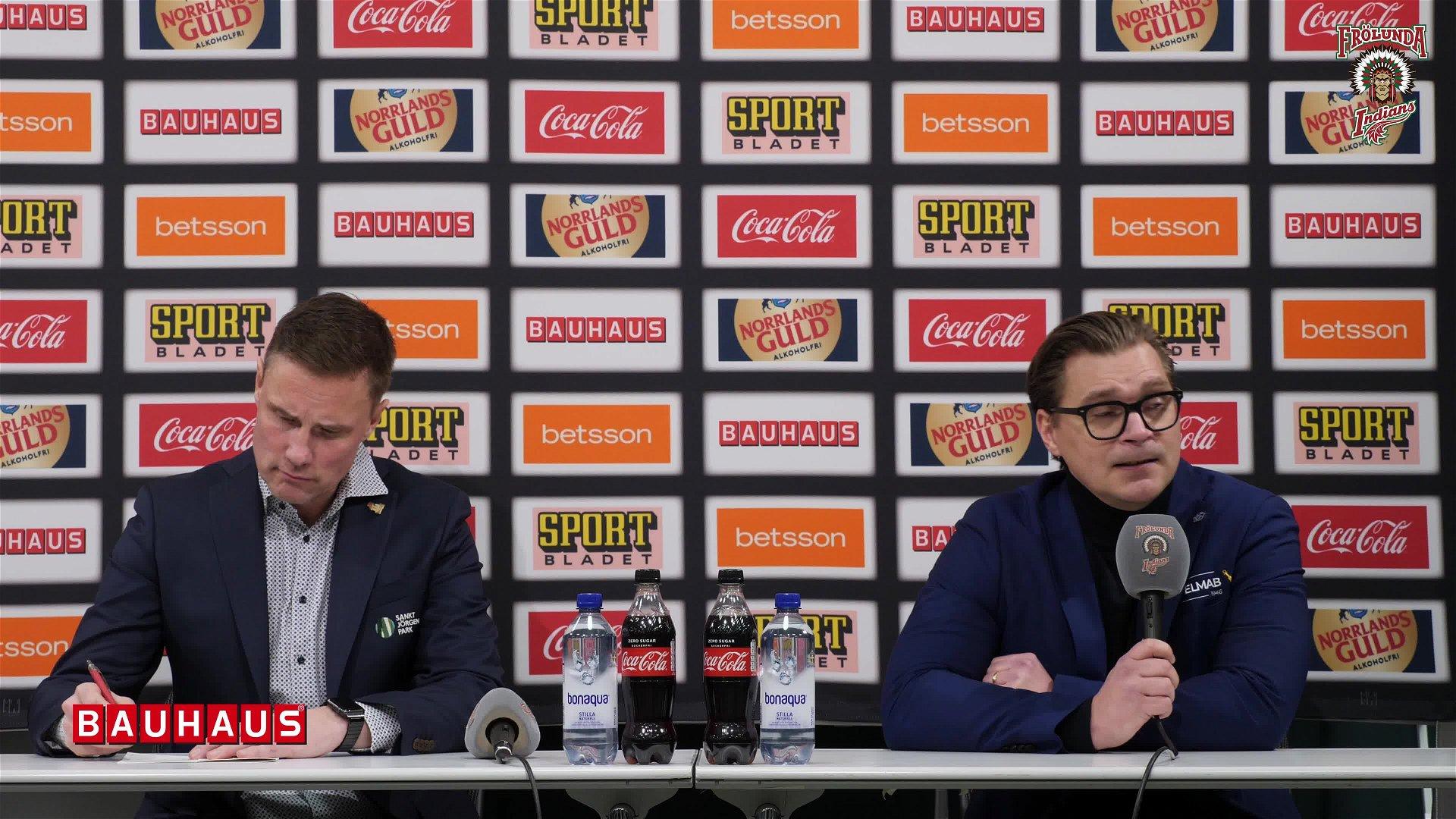 Presskonferensen efter Frölunda – Leksand