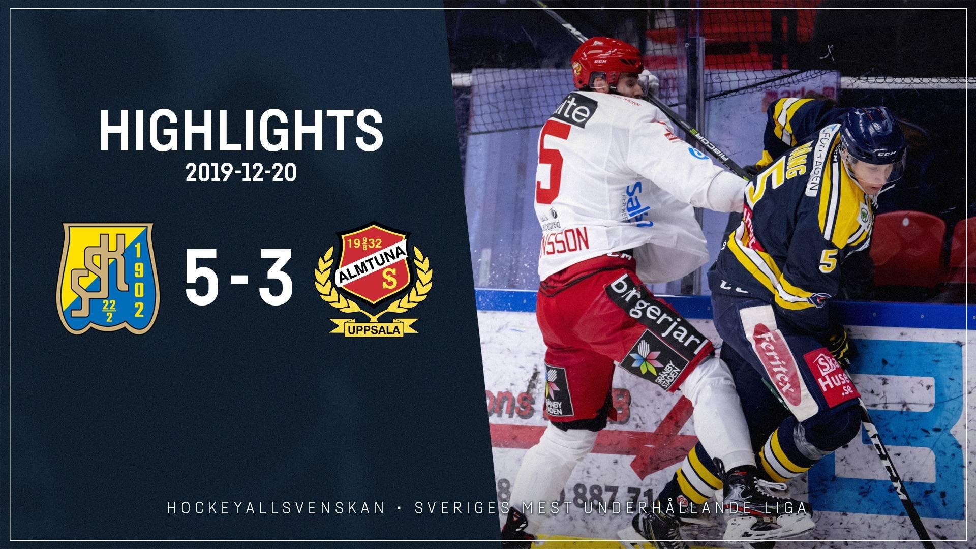 2019-12-20 Södertälje - Almtuna 5-3