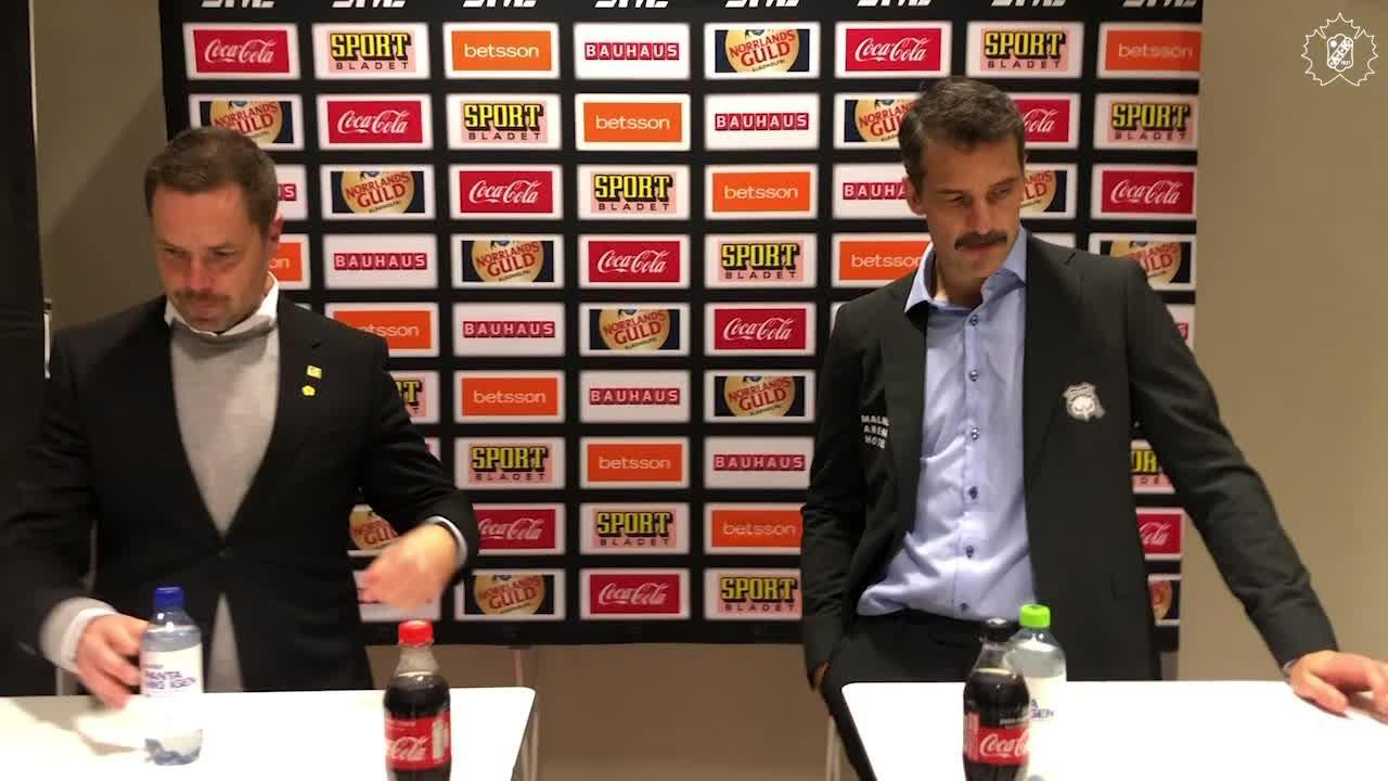 Presskonferens efter SKE - MIF