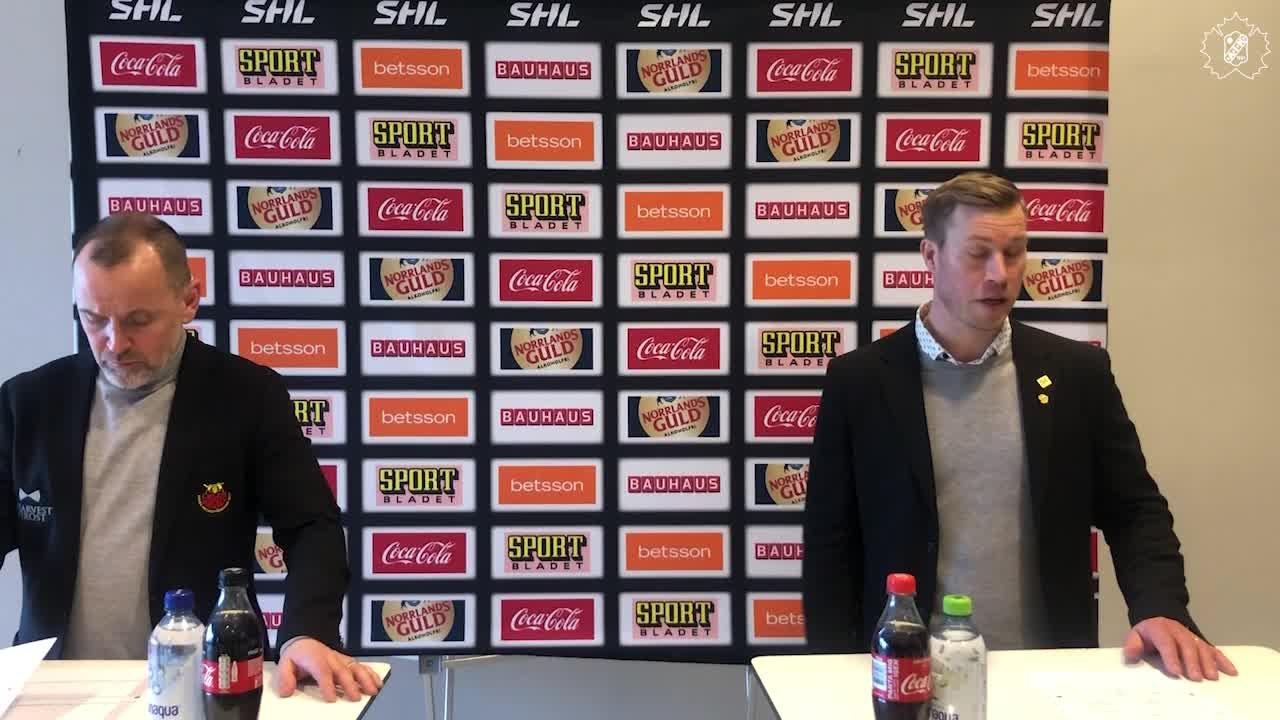 Presskonferens efter kvartsfinal 1
