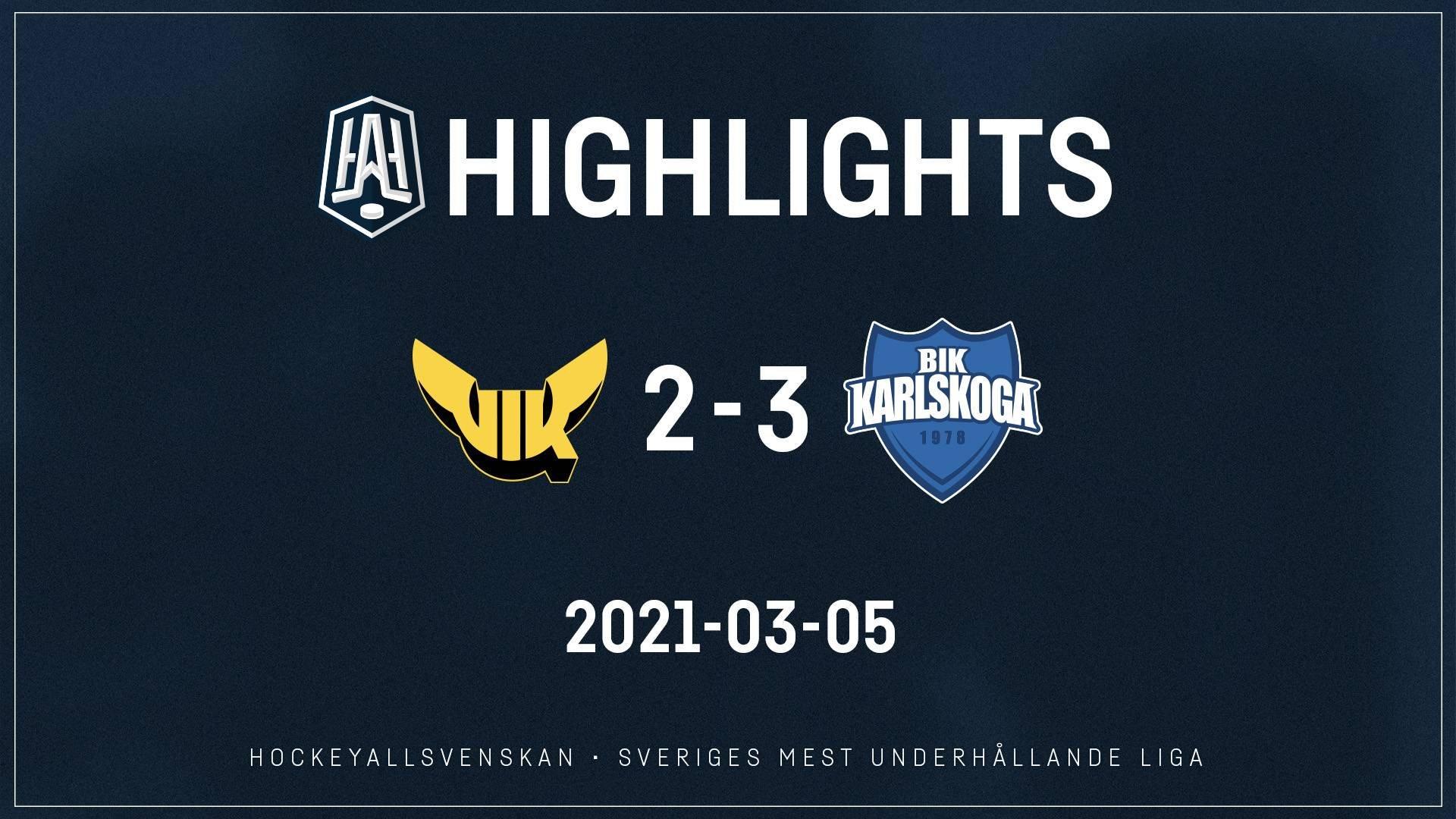 2021-03-05 Västerås - Karlskoga 2-3