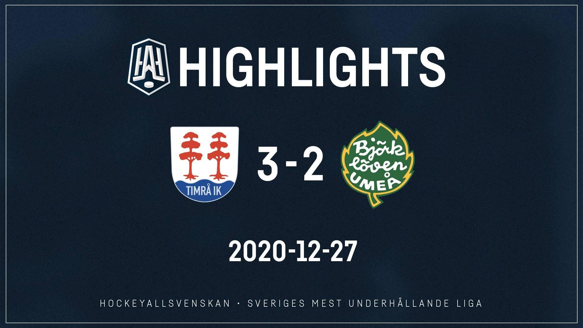 2020-12-27 Timrå - Björklöven 3-2