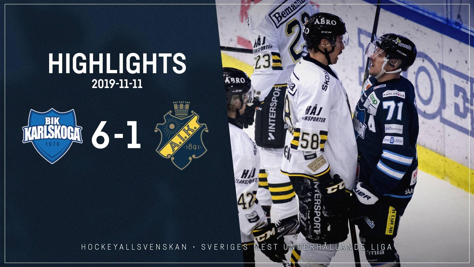 2019-11-11 Karlskoga - AIK 6-1