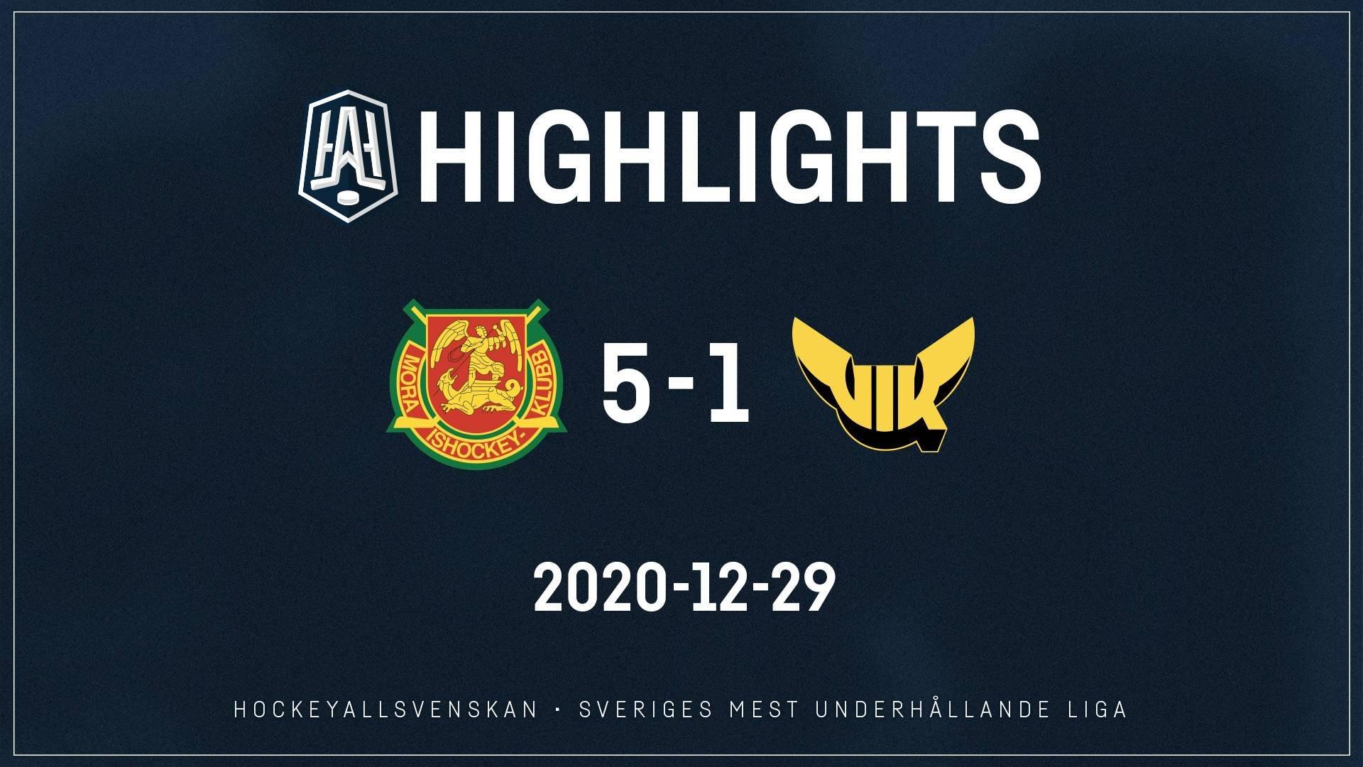 2020-12-29 Mora - Västerås 5-1