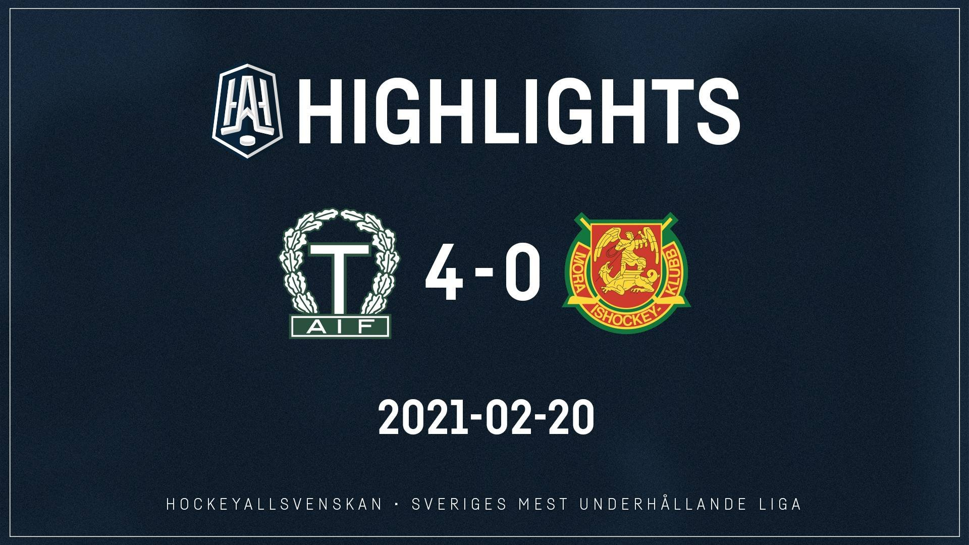 2021-02-20 Tingsryd - Mora 4-0