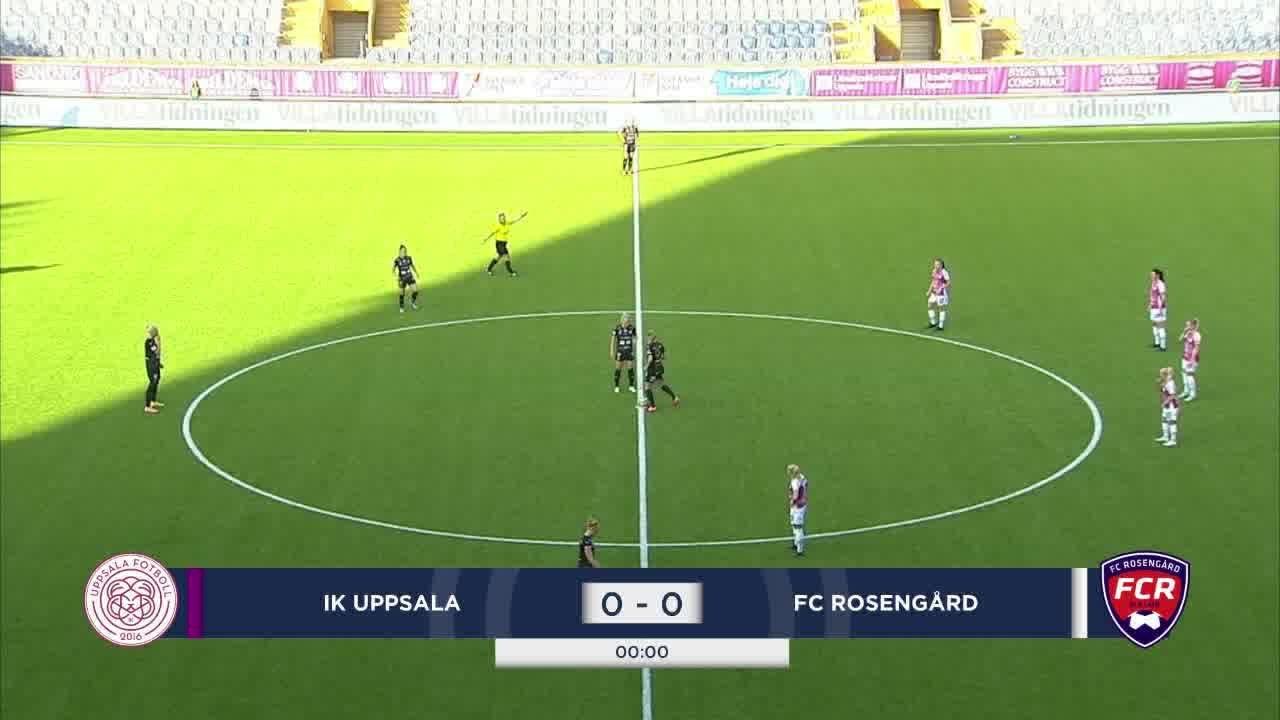 Highlights: Uppsala - Rosengård 7 aug