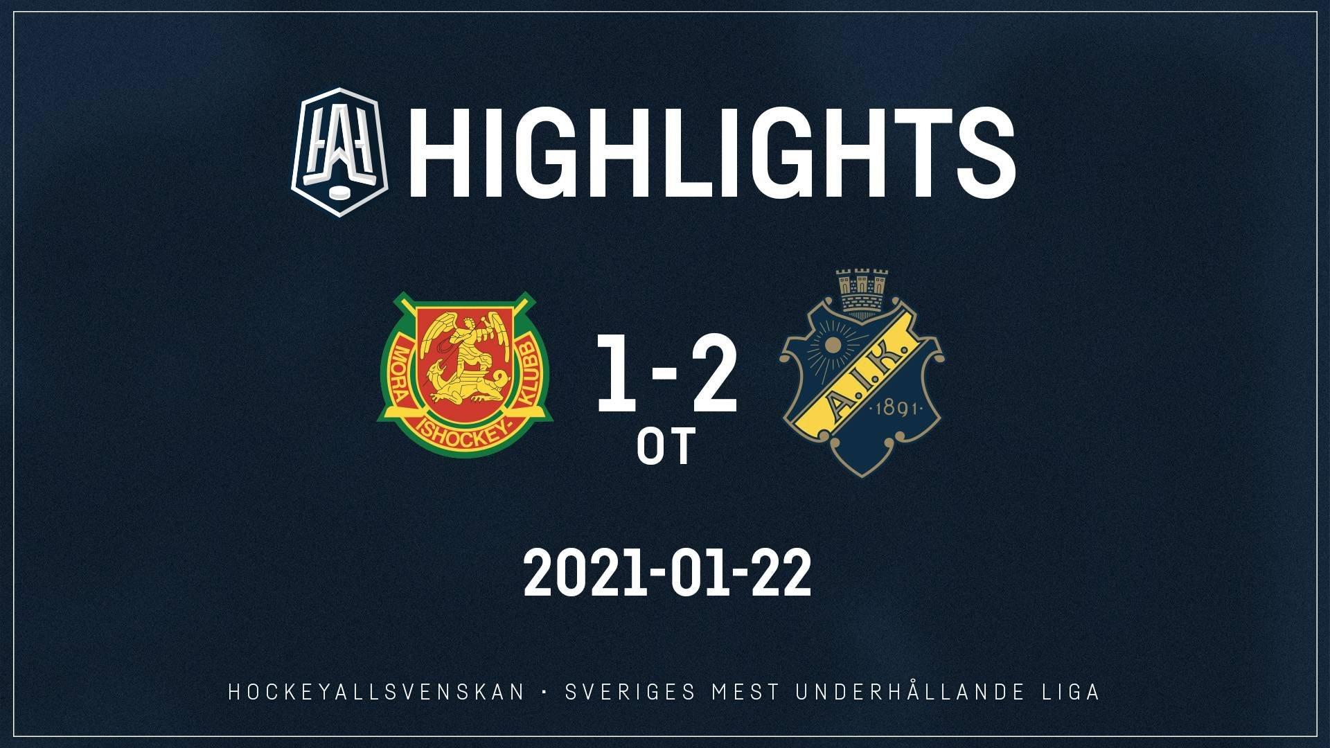 2021-01-22 Mora - AIK 1-2 (OT)