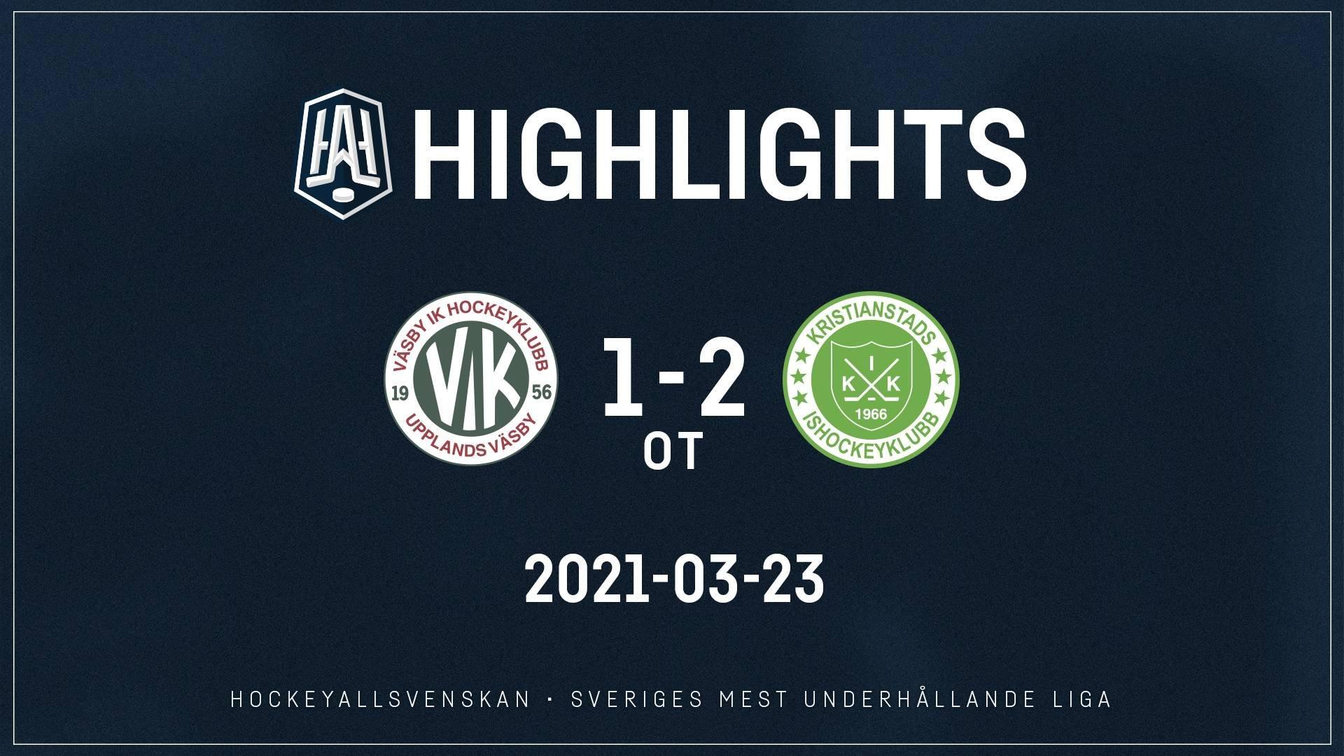 2021-03-23 Väsby - Kristianstad 1-2 (OT)