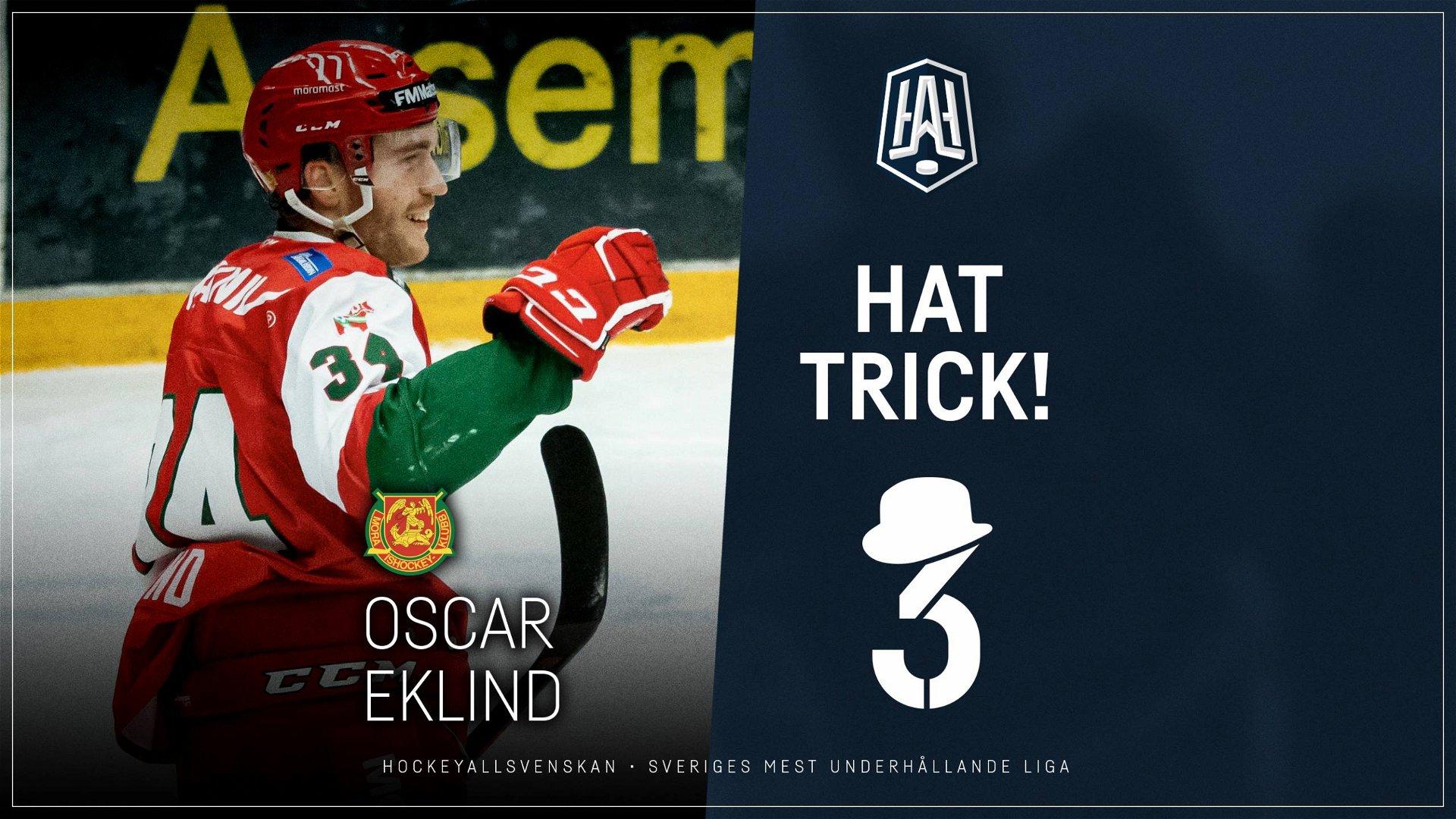 Hattrick: Oscar Eklind, Mora