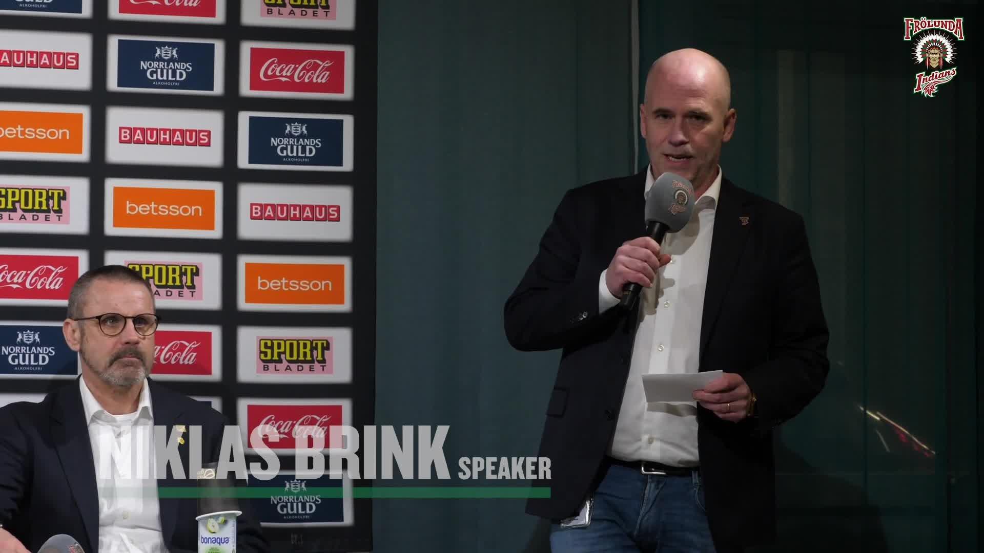 Presskonferensen efter Frölunda – Skellefteå