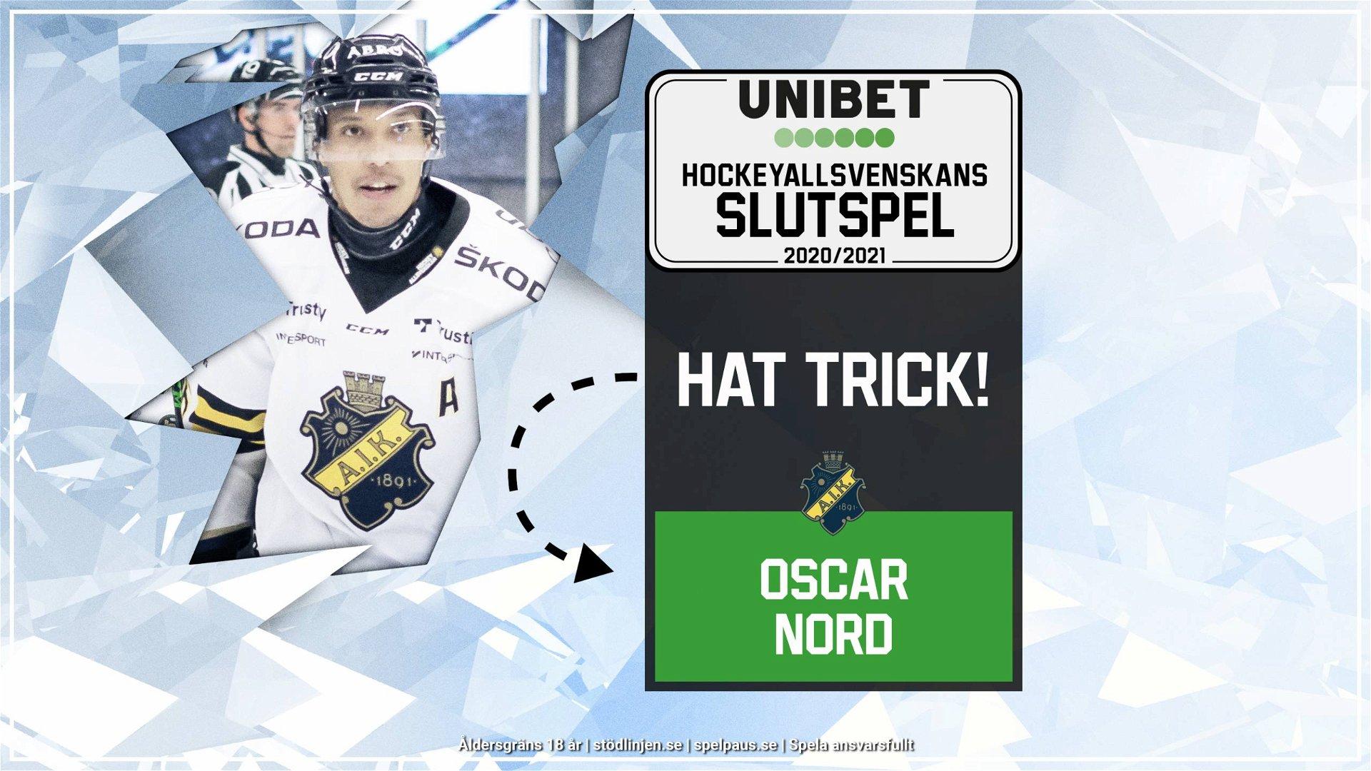 Hattrick: Oscar Nord, AIK