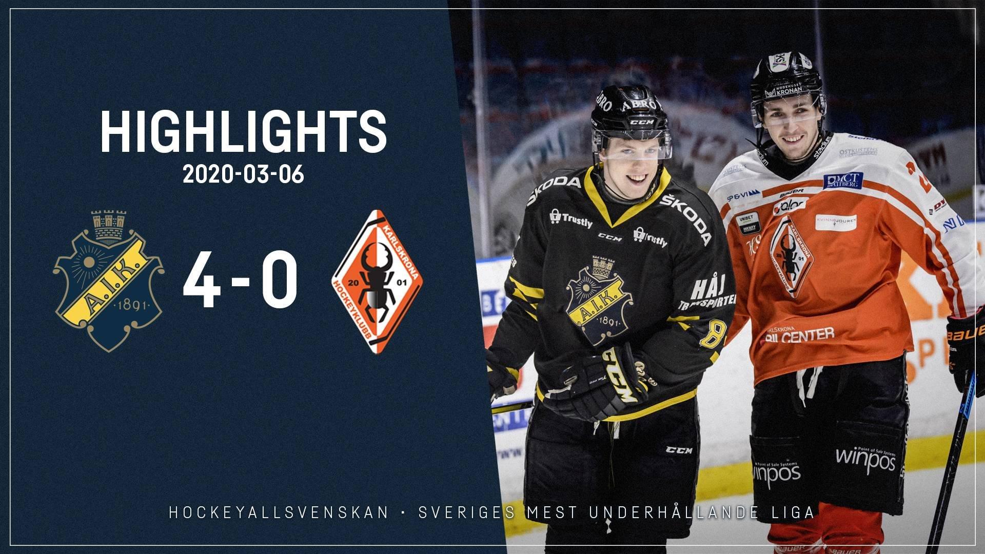 2020-03-06 AIK - Karlskrona 4-0