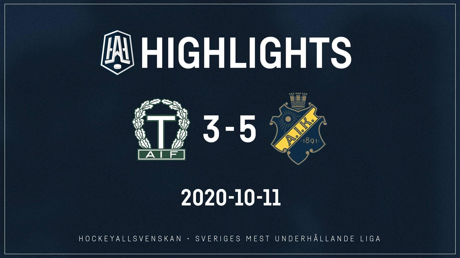 2020-10-11 Tingsryd - AIK 3-5