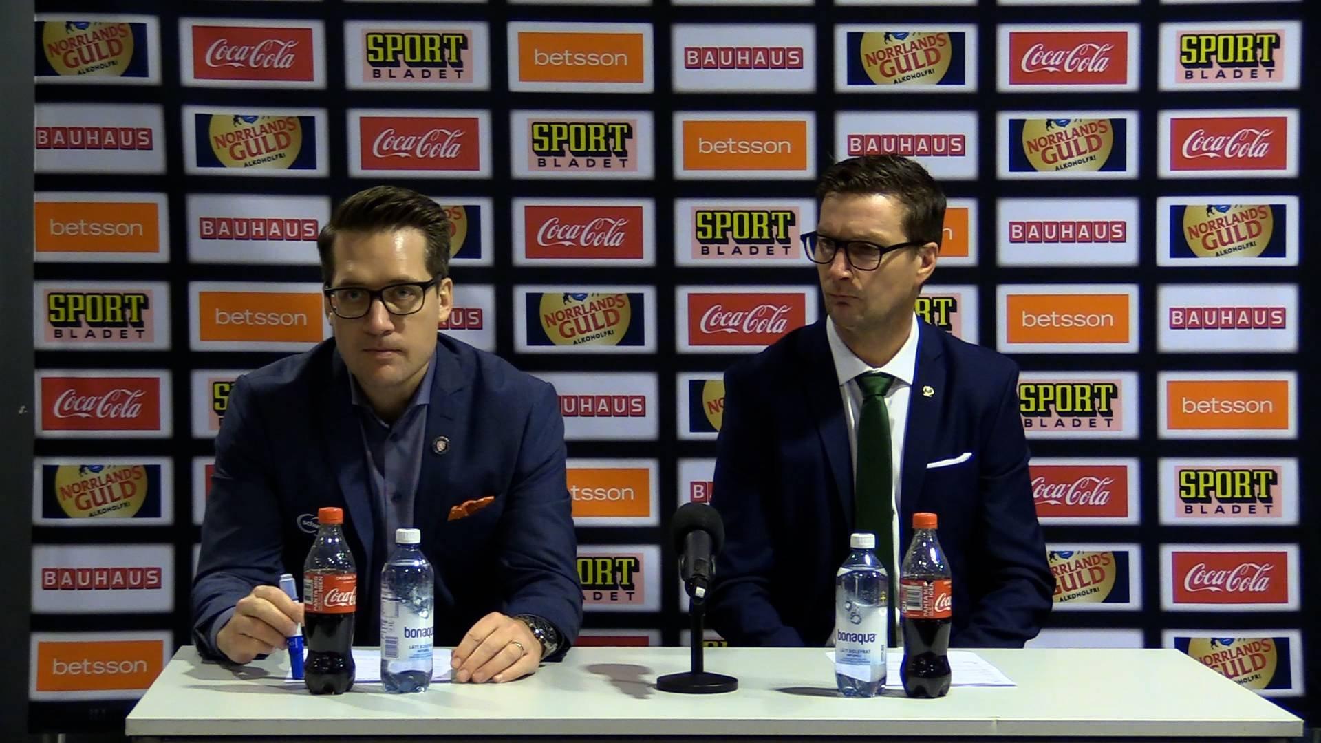 Presskonferens efter Färjestad-Växjö