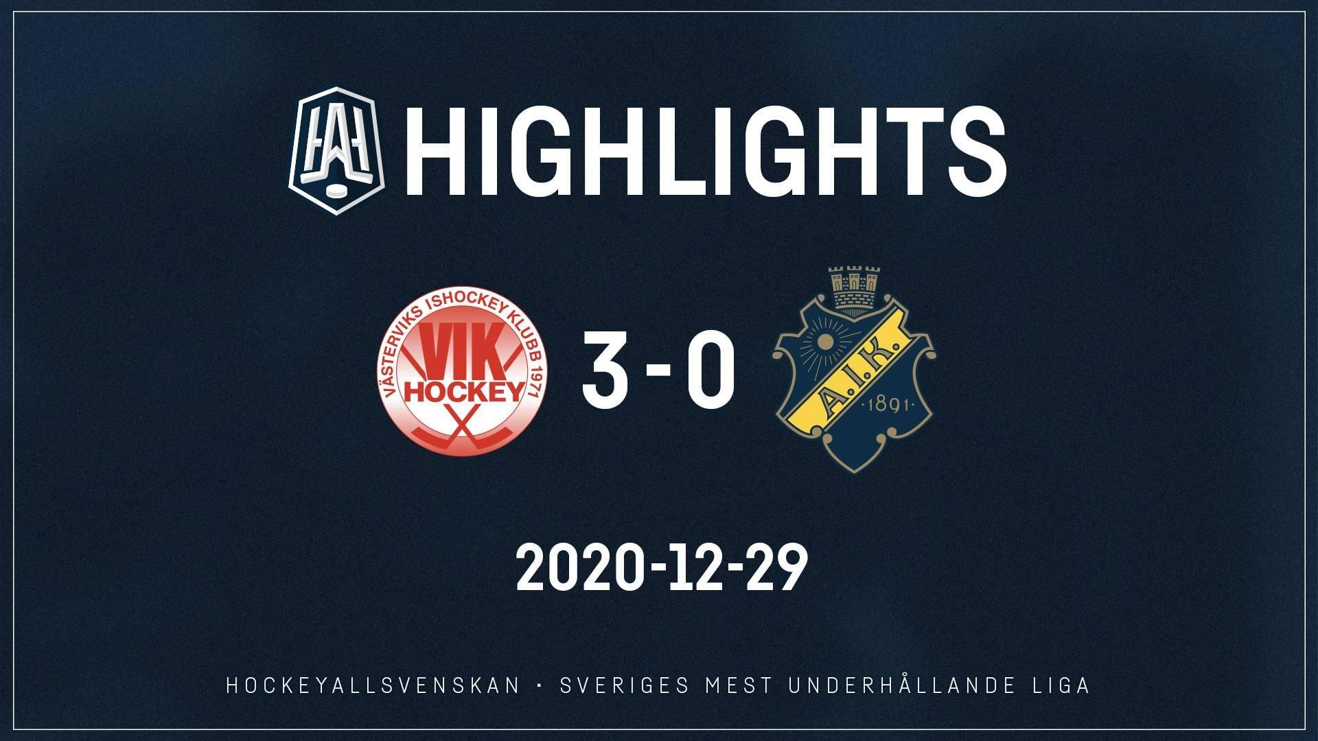 2020-12-29 Västervik - AIK 3-0