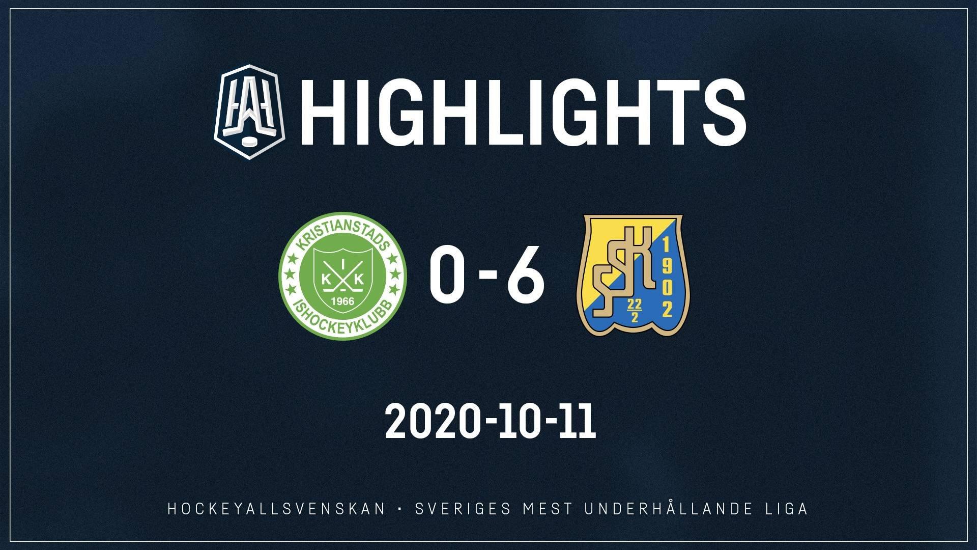 2020-10-11 Kristianstad - Södertälje 0-6