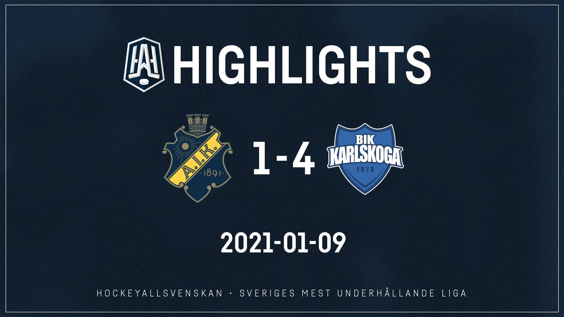 2021-01-09 AIK - Karlskoga 1-4