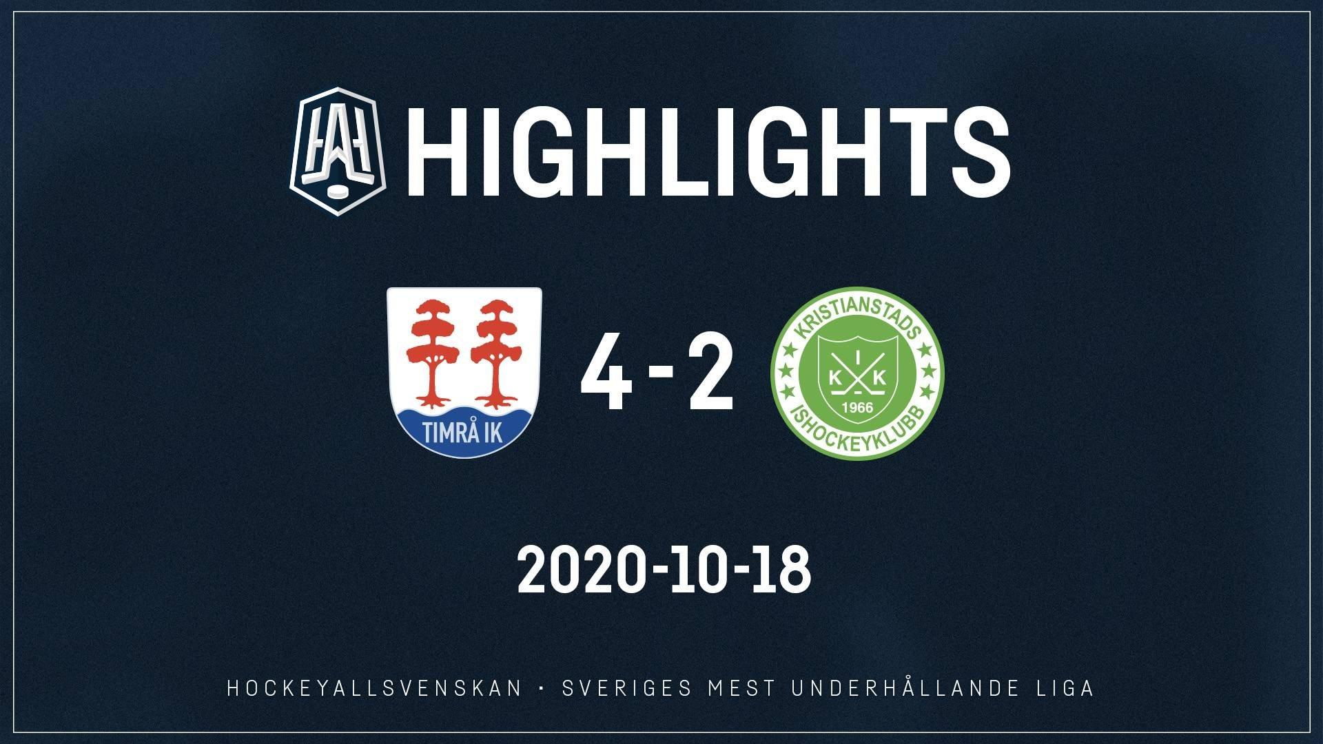 2020-10-18 Timrå - Kristianstad 4-2