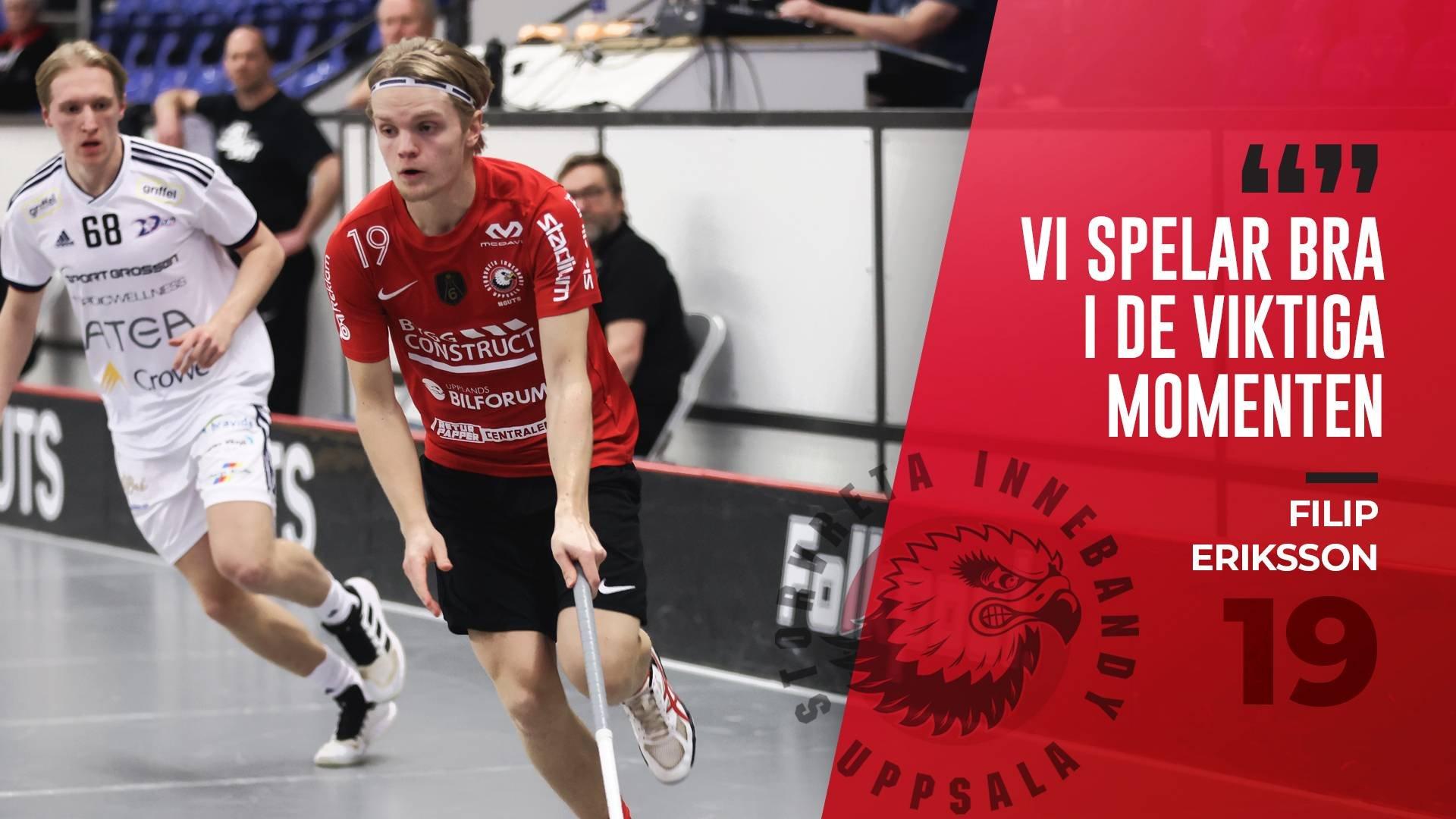 """Filip Eriksson """"Väldigt skönt att vinna"""""""