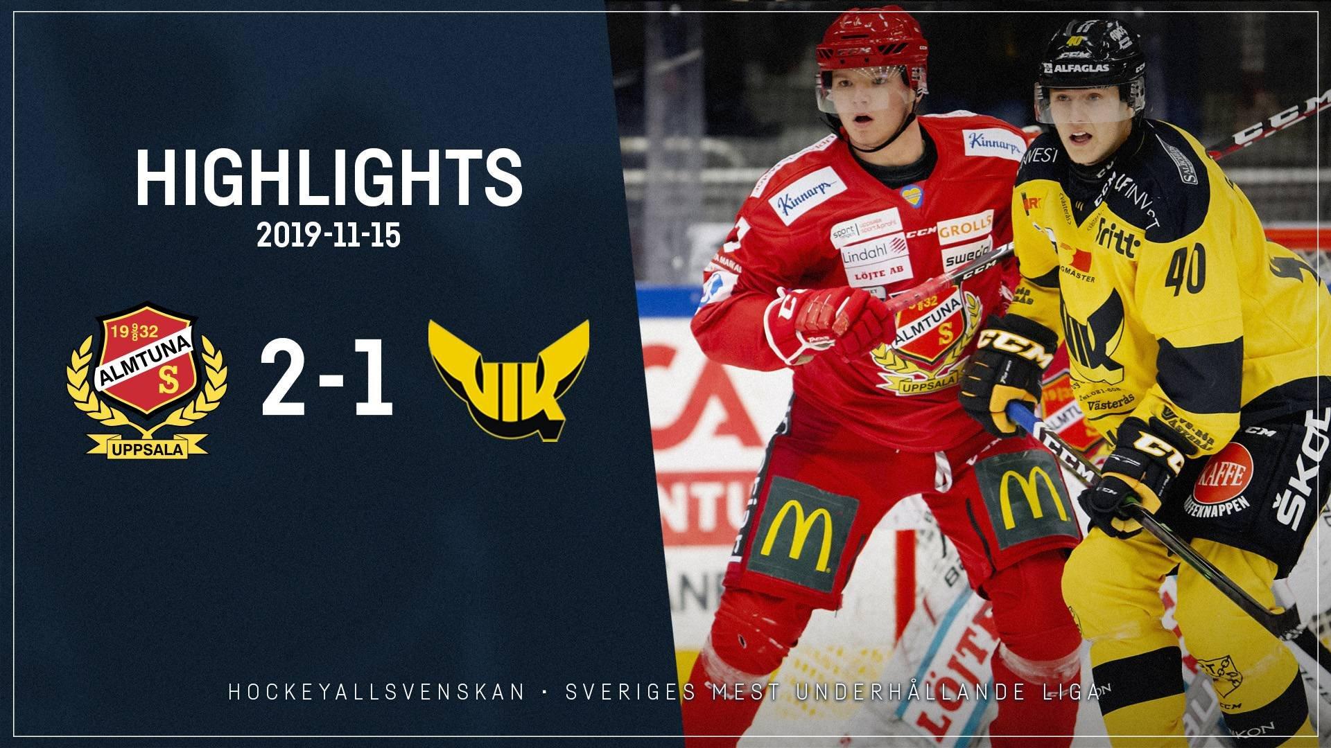 2019-11-15 Almtuna - Västerås 2-1
