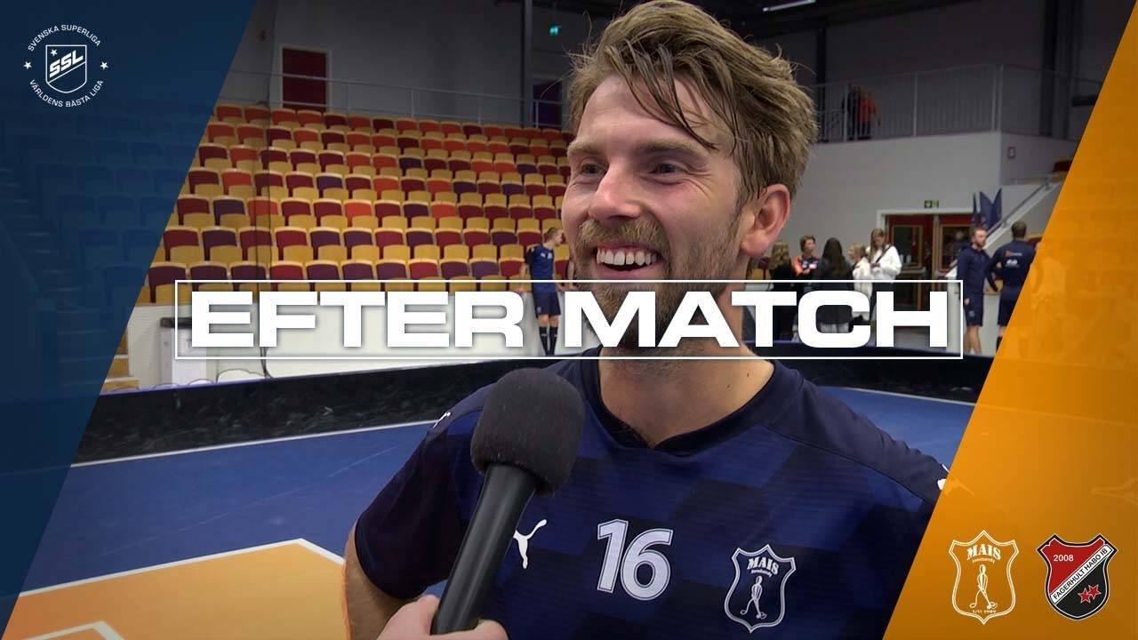 Kasper Hedlund efter segern mot Fagerhult