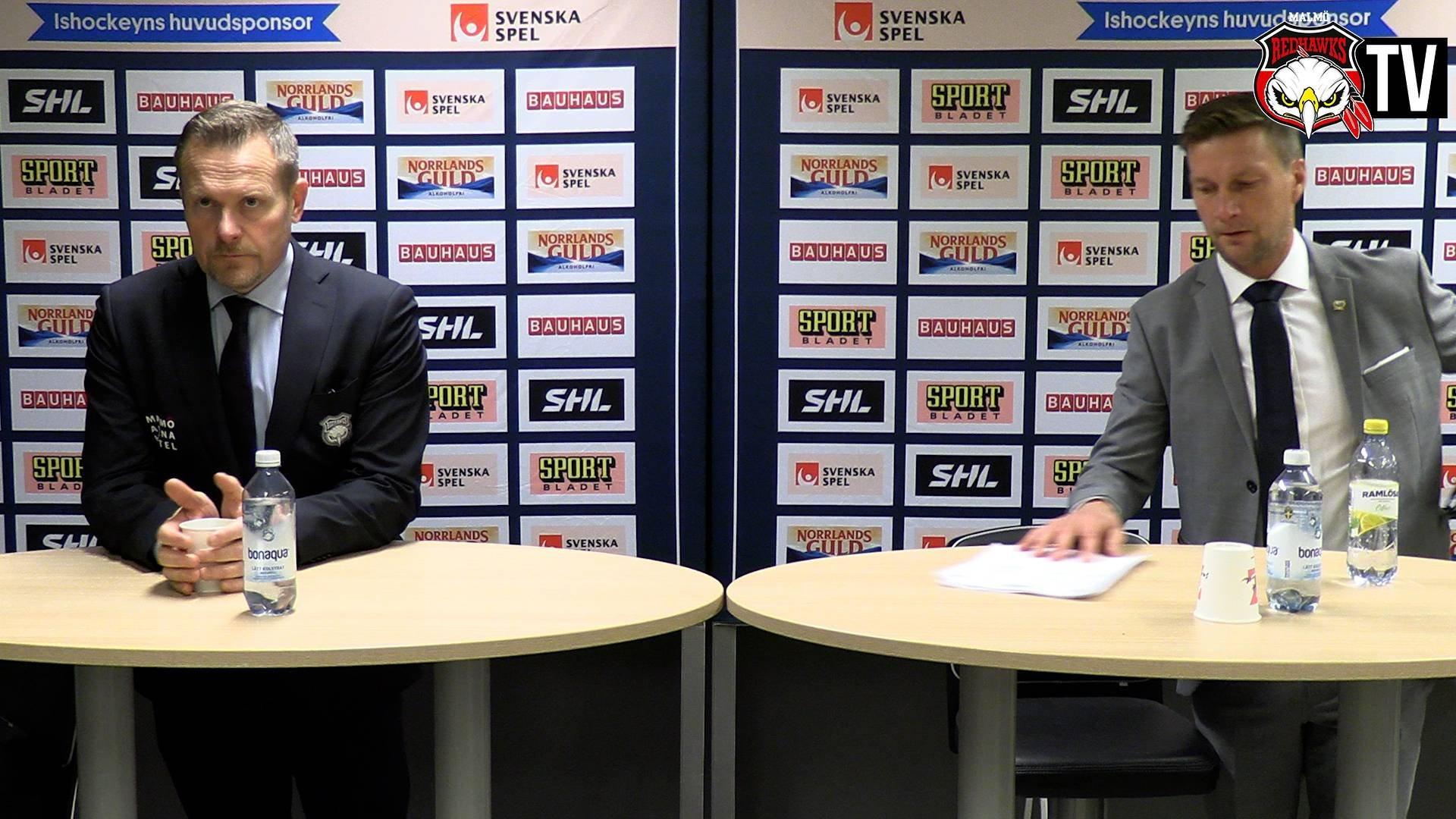 Presskonferens Malmö - Färjestad