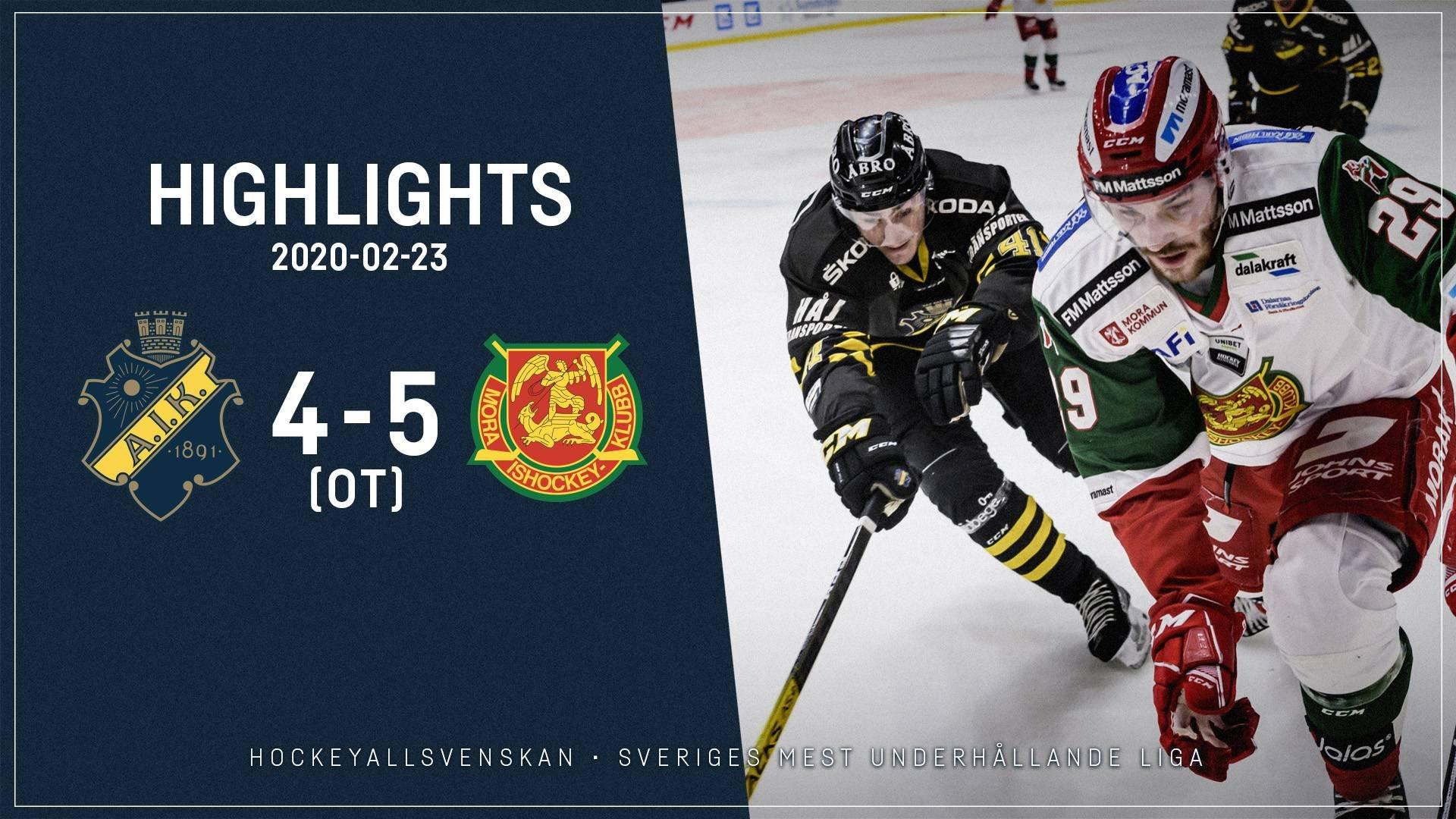 2020-02-23 AIK - Mora 4-5 (OT)