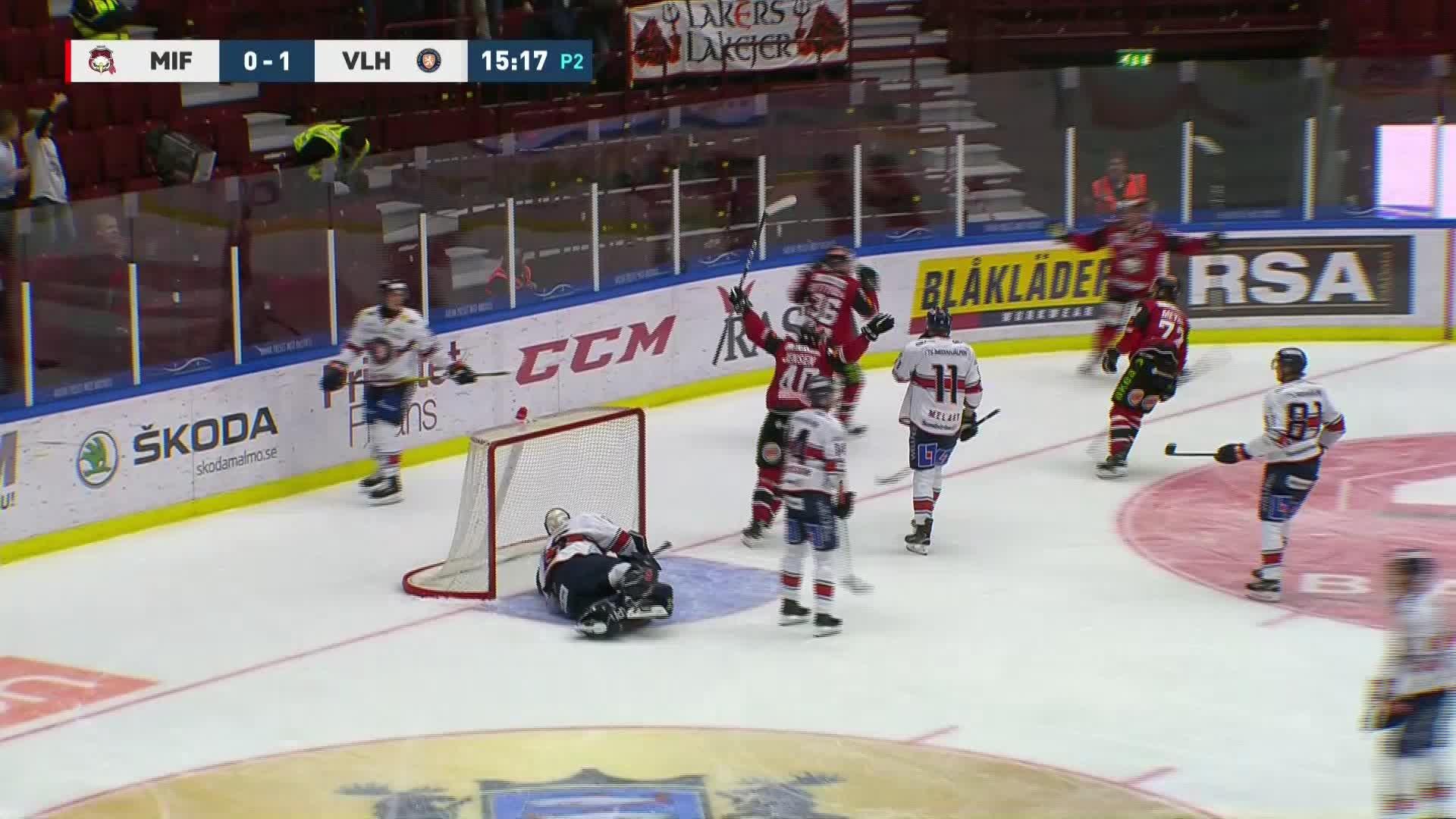 Malmö Redhawks - Växjö Lakers 1-1