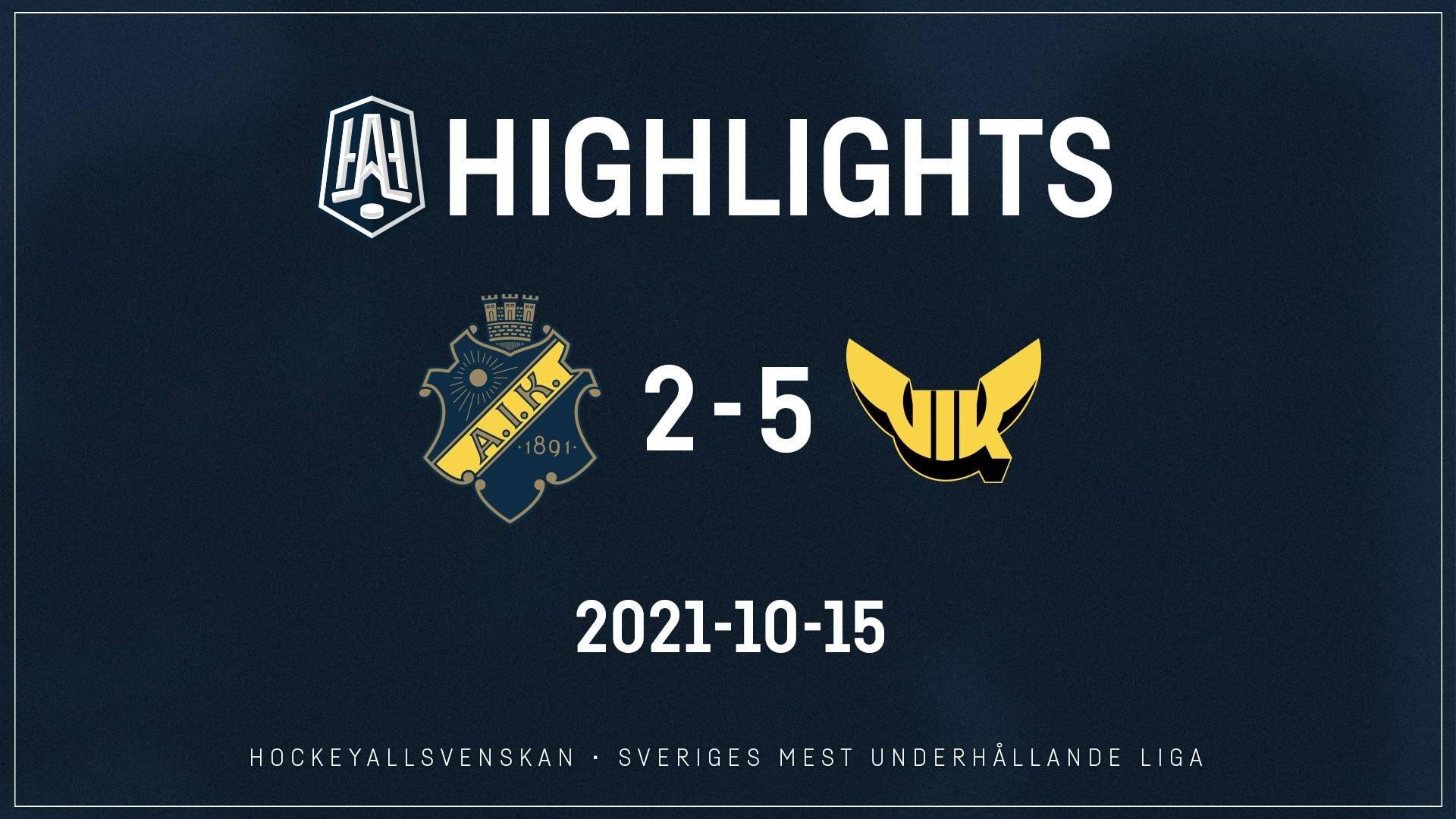 2021-10-15 AIK - Västerås 2-5