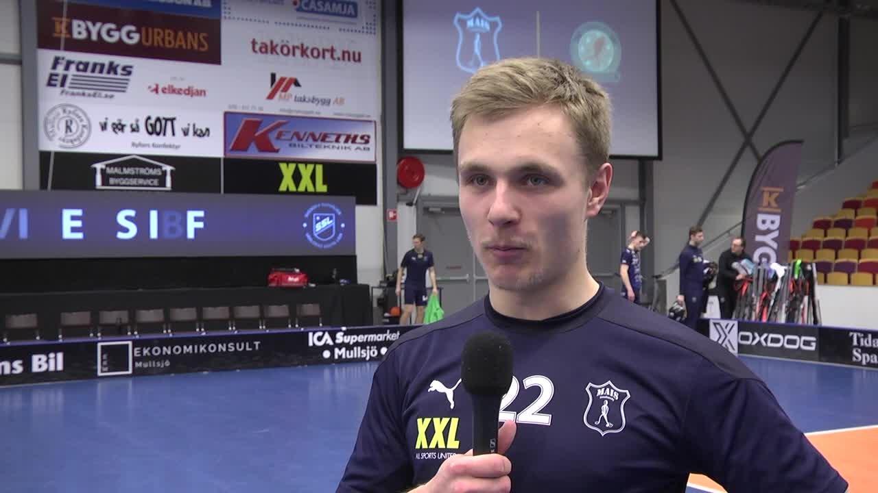 Leo Olsson efter segern mot Fagerhult