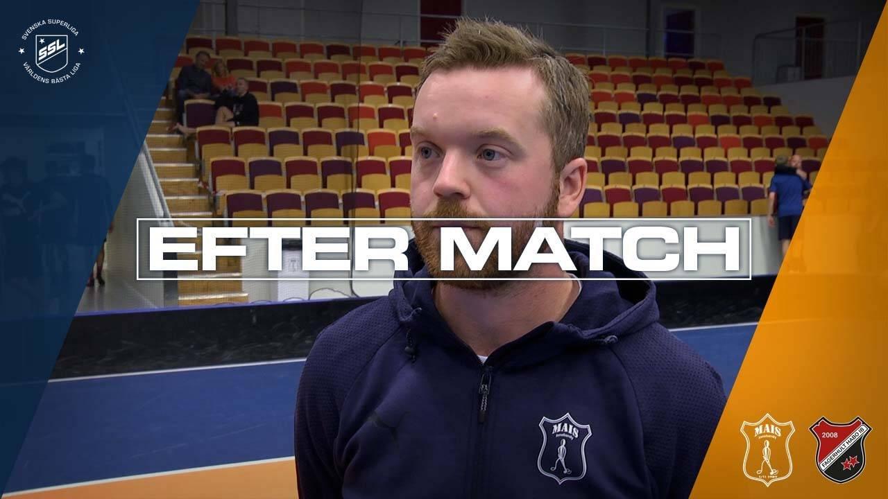 Johan Nygårdh efter segern mot Fagerhult