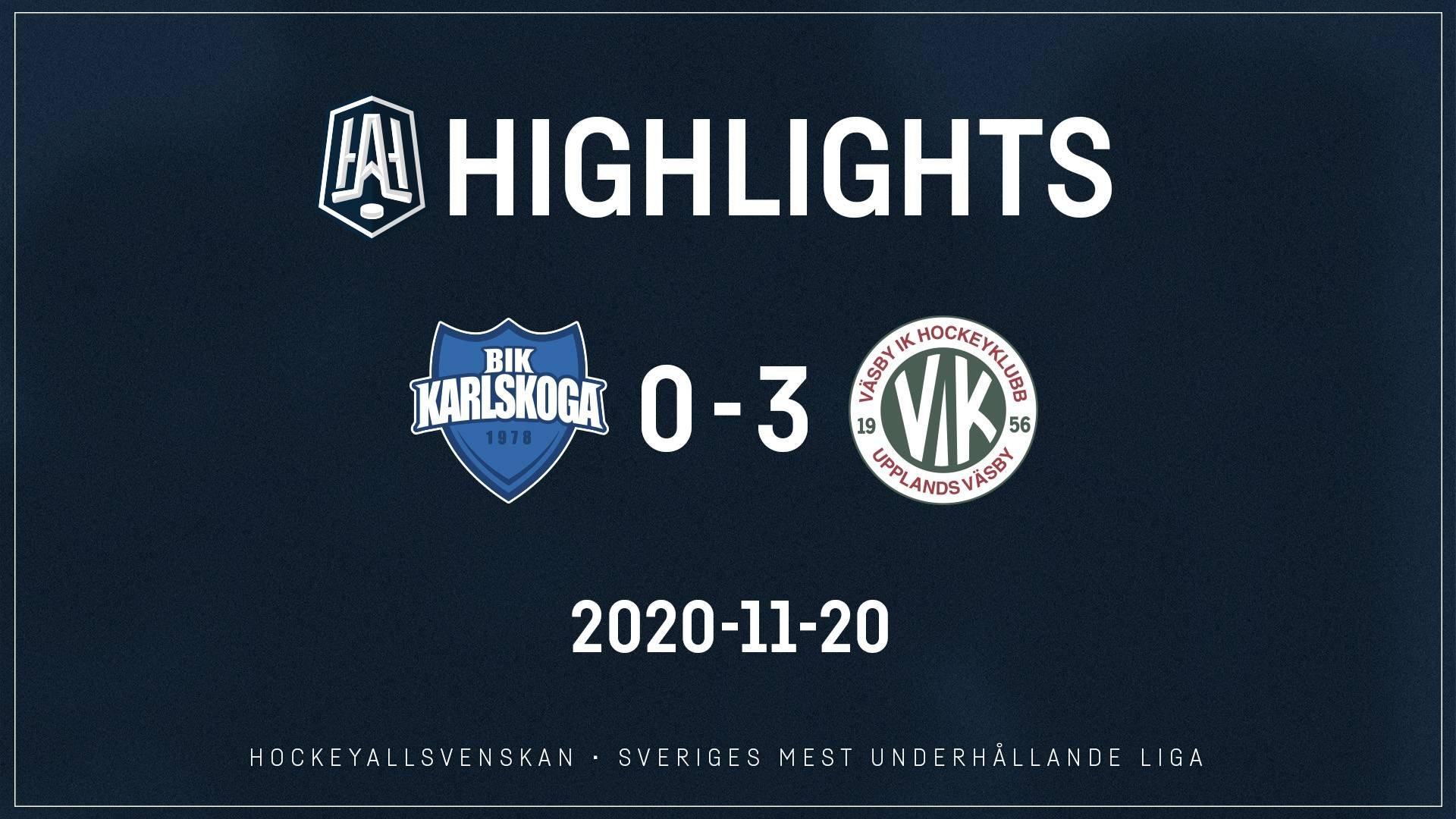 2020-11-20 Karlskoga - Väsby 0-3