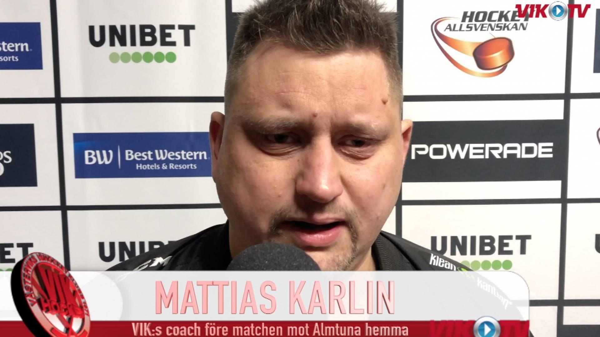 VIK-TV: Intervju med Mattias Karlin inför Almtuna hemma