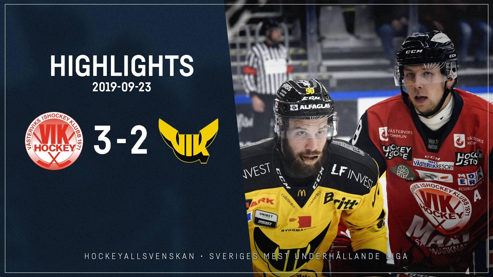 2019-09-23 Västervik-Västerås 3-2