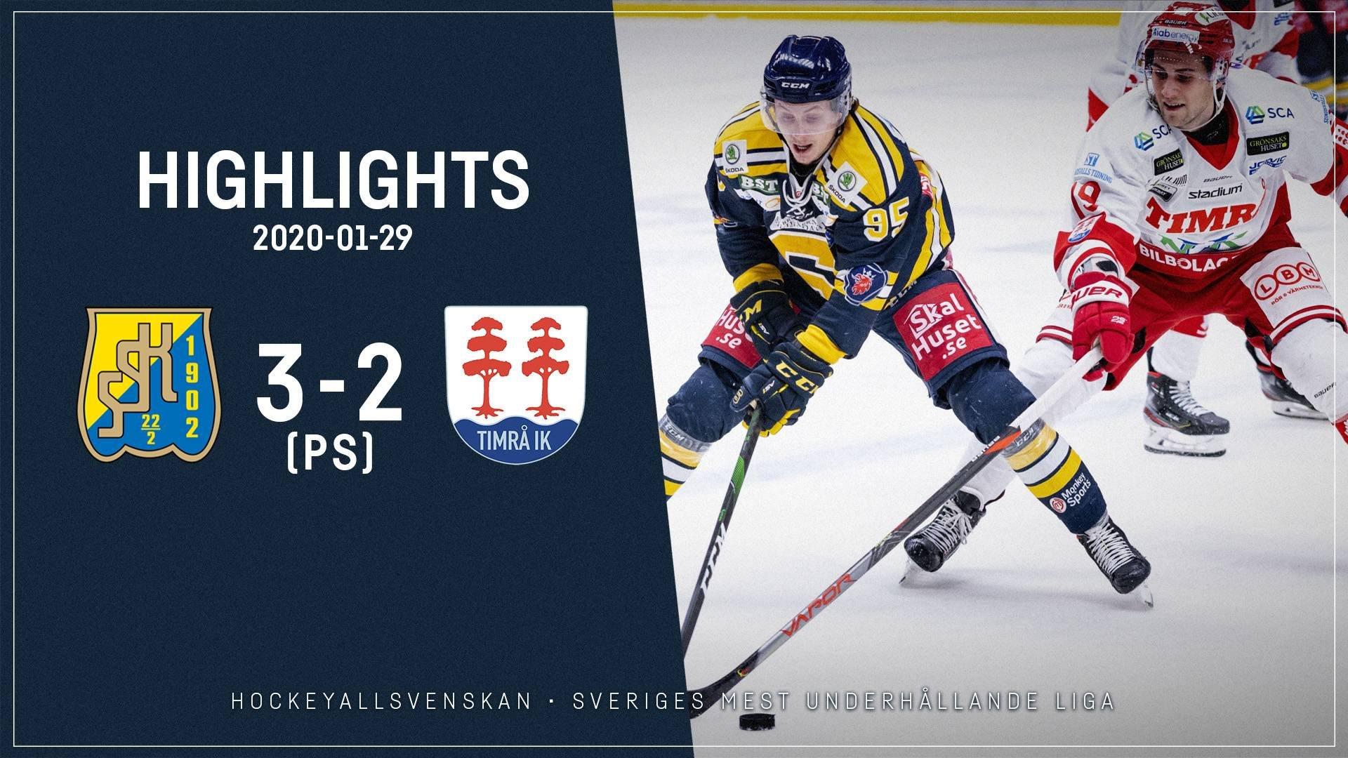 2020-01-29 Södertälje - Timrå 3-2 (PS)