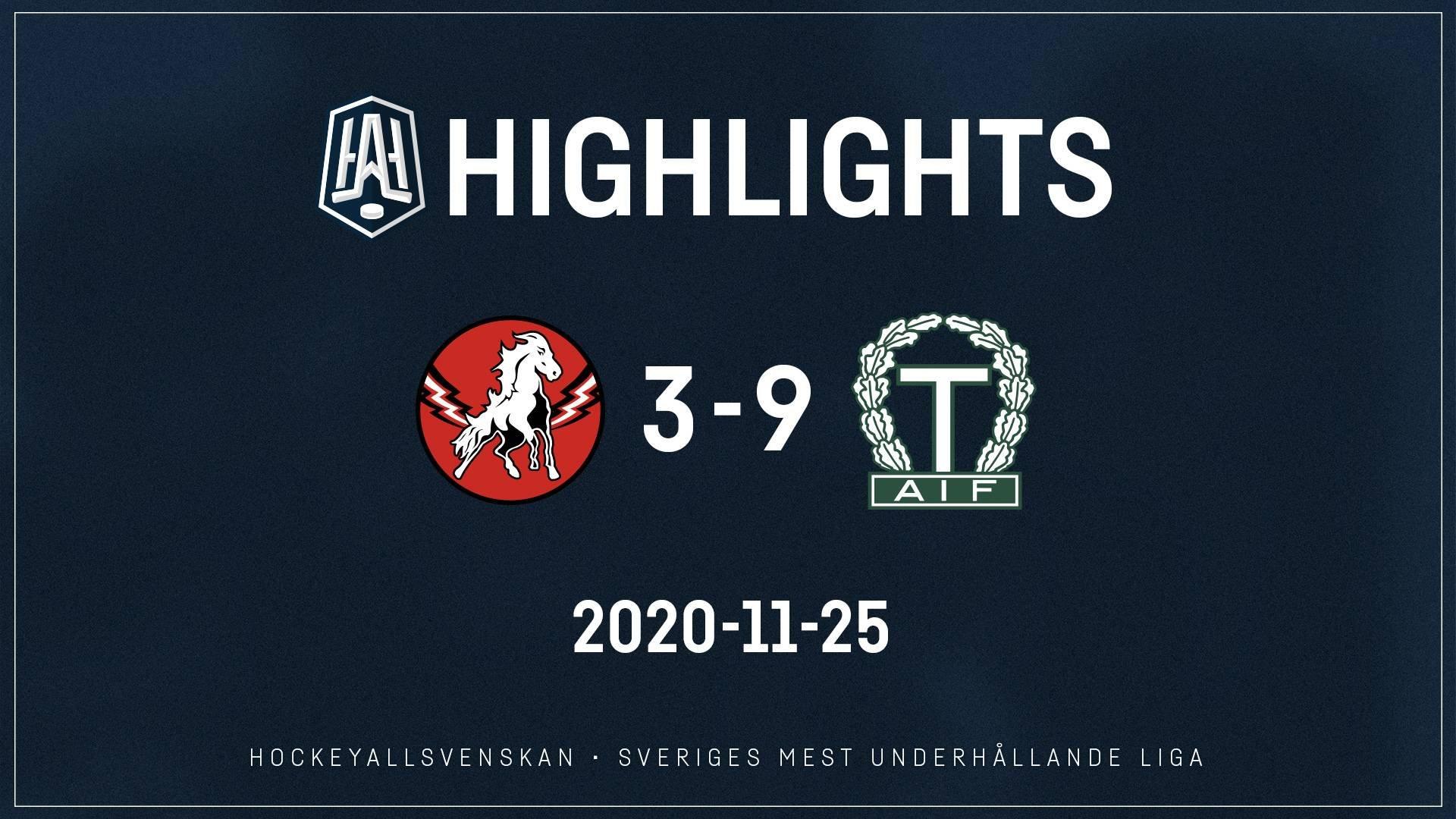 2020-11-25 Vita Hästen - Tingsryd 3-9