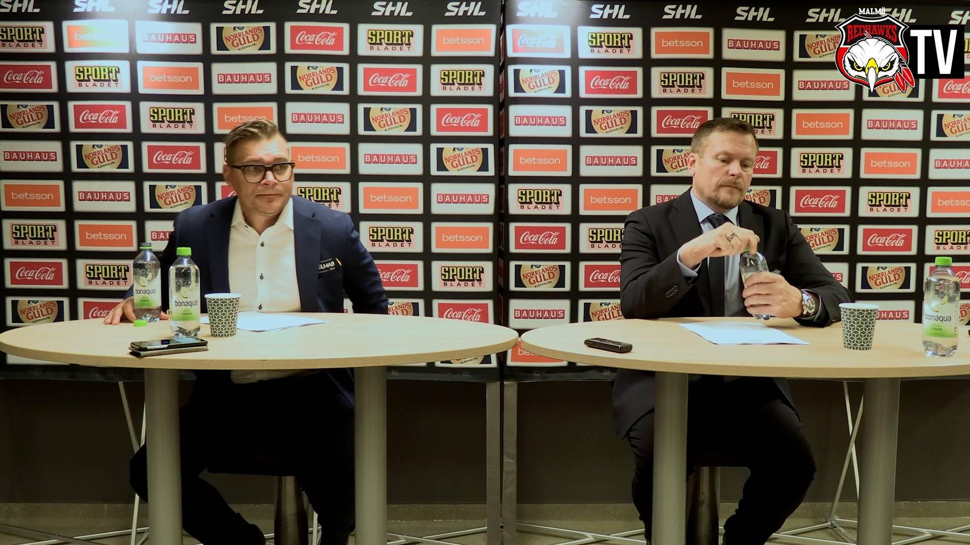 Presskonferens Malmö-Leksand