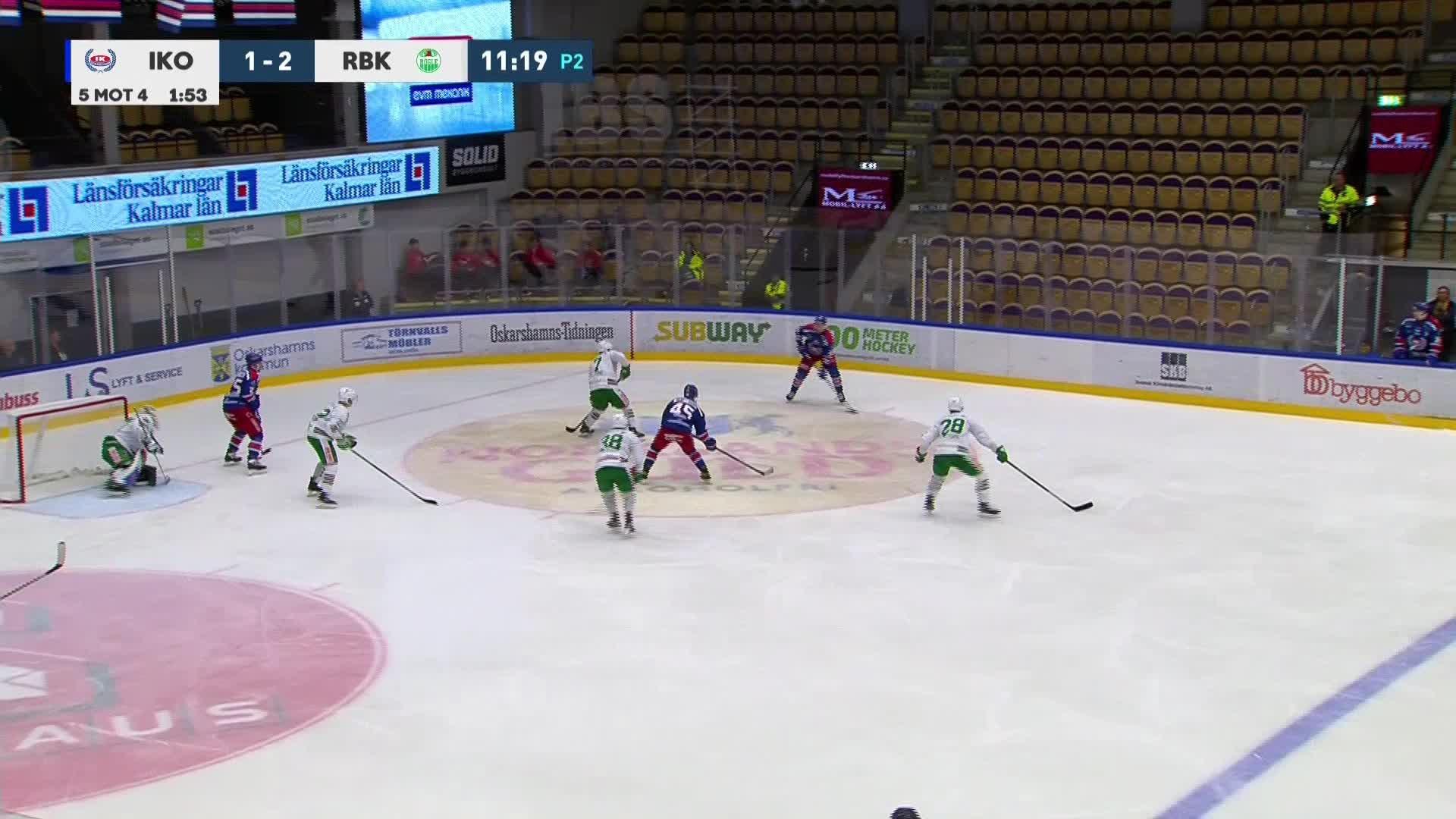 IK Oskarshamn - Rögle BK 2-2
